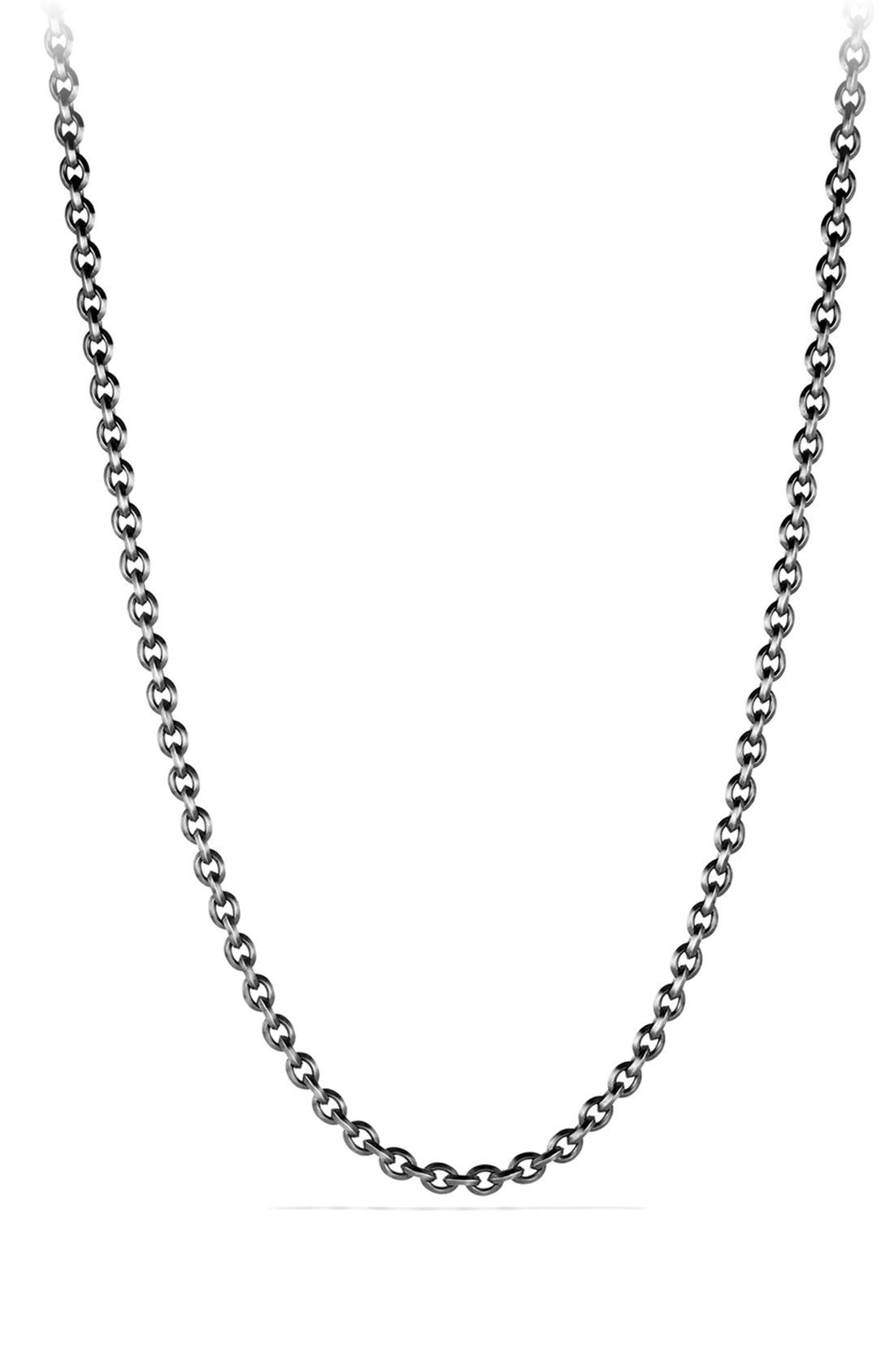 'Knife Edge' Chain Necklace,                             Main thumbnail 1, color,                             Silver