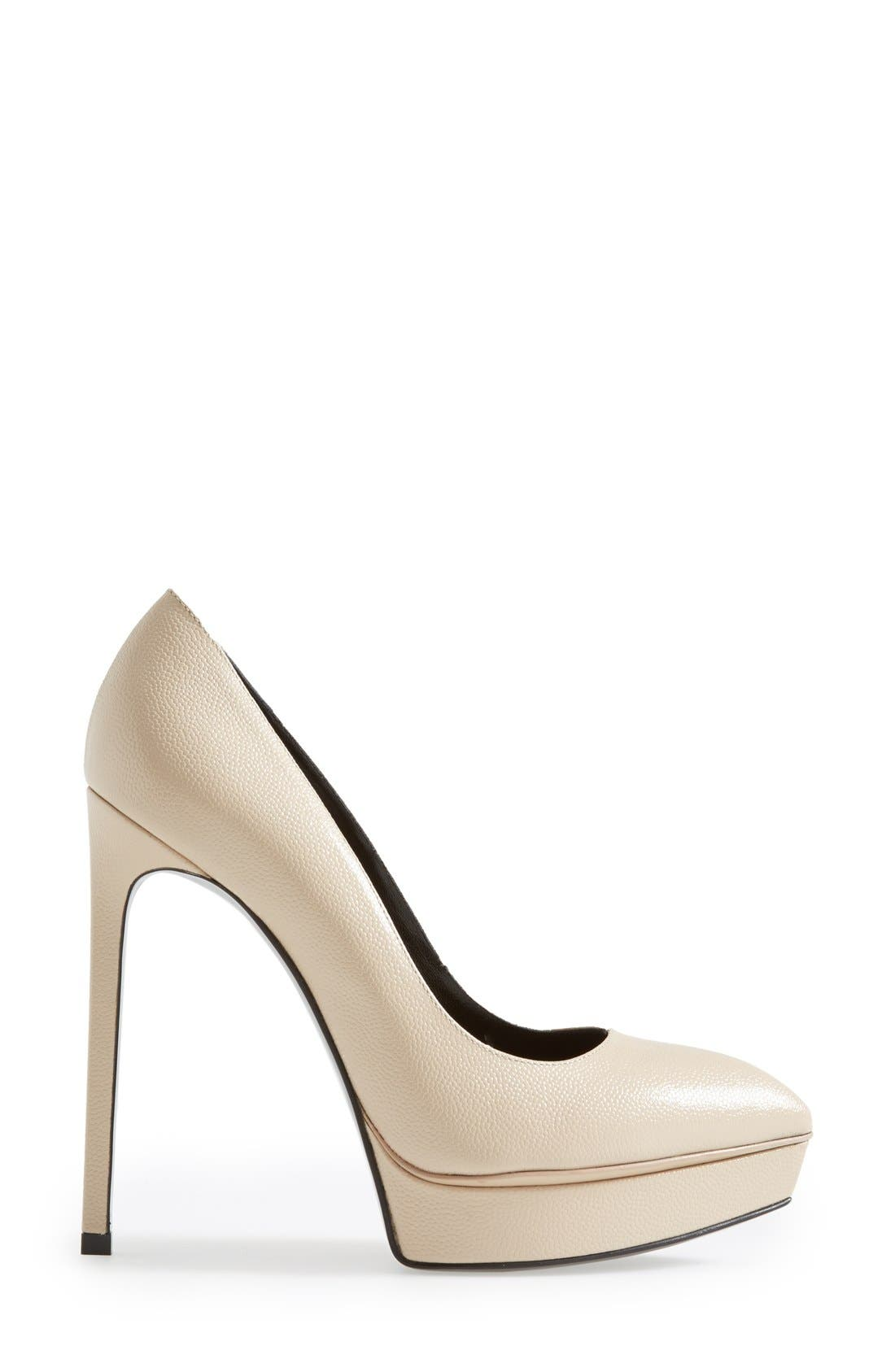 Alternate Image 4  - Saint Laurent 'Janis' Pointy Toe Platform Pump (Women)