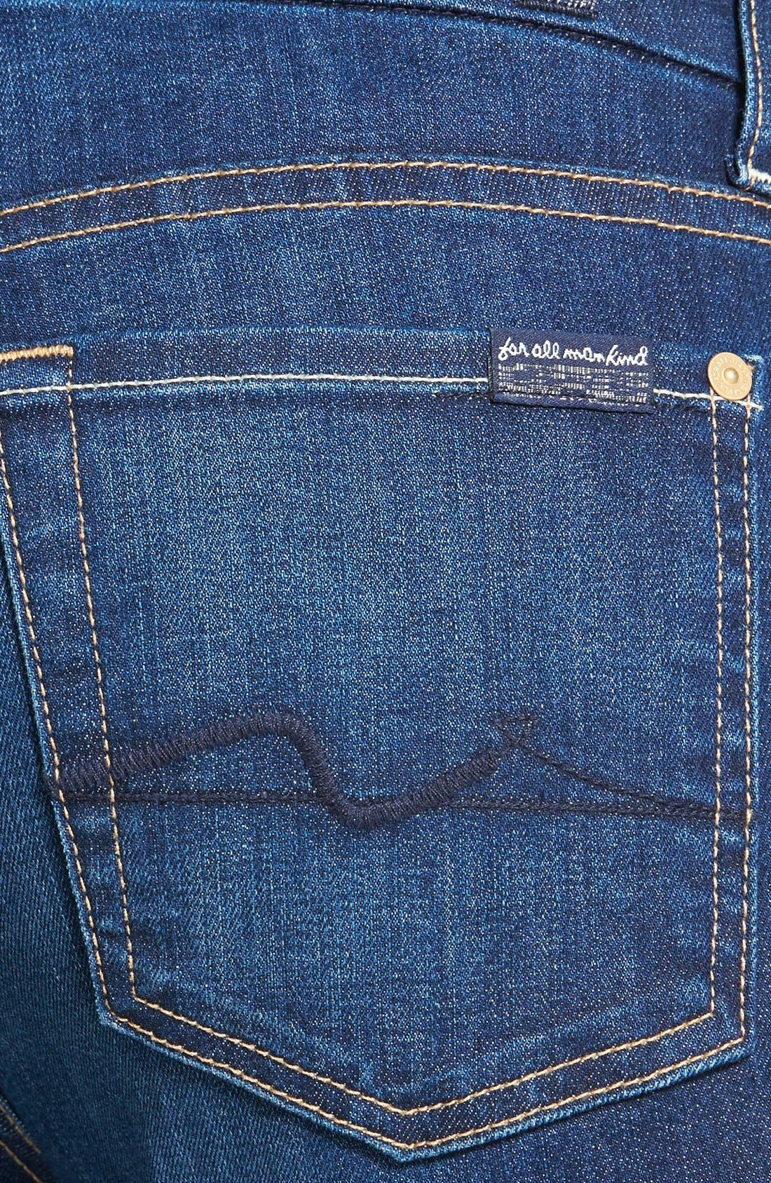 Alternate Image 3  - 7 For All Mankind® 'Kimmie' Contour Waist Crop Jeans (Lovely Medium Blue 2)