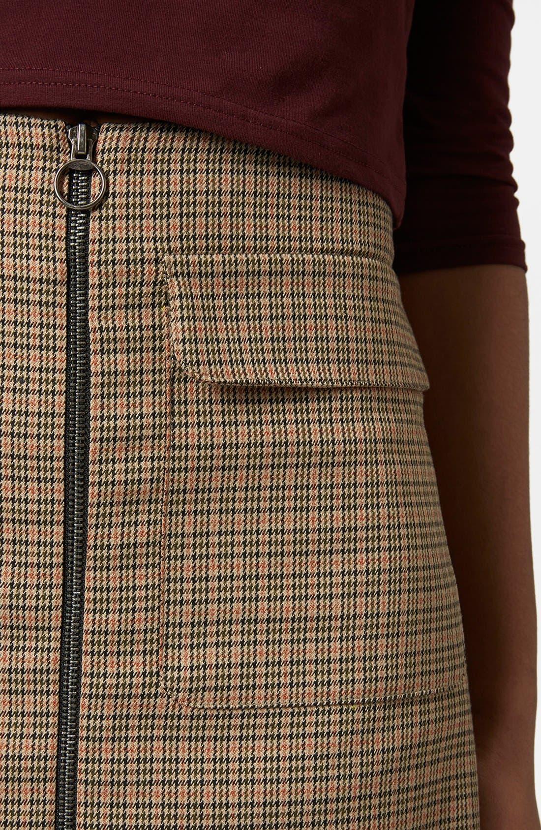 Alternate Image 3  - Topshop 'Tessa' Houndstooth A-Line Miniskirt