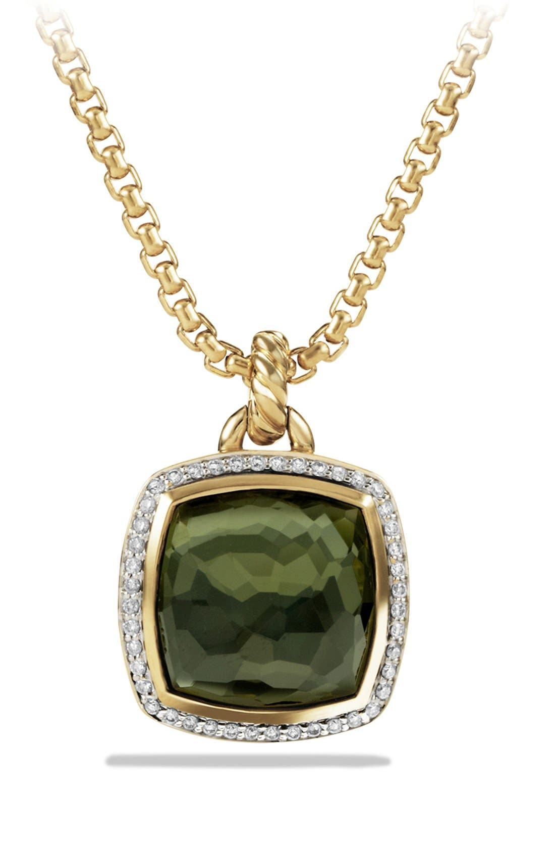 Alternate Image 1 Selected - David Yurman 'Albion' Pendant with Lemon Citrine and Diamonds in Gold