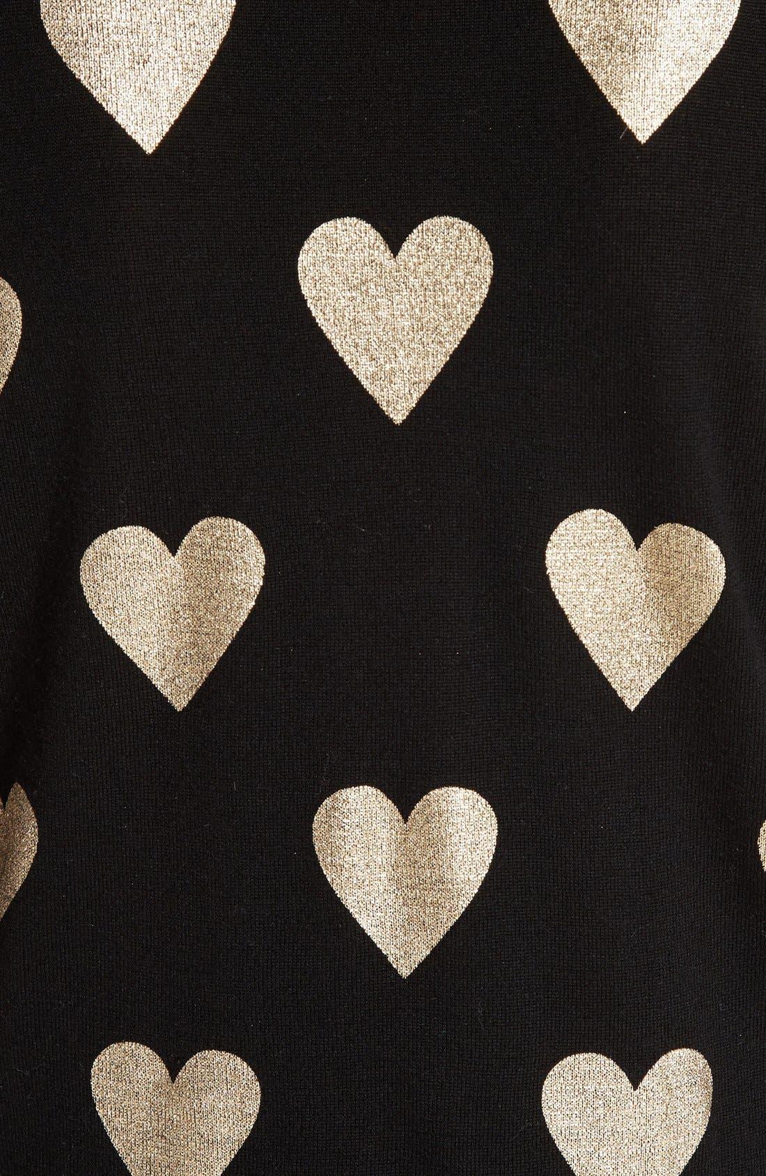Alternate Image 3  - Burberry Bilboa Foil Heart Wool Sweater
