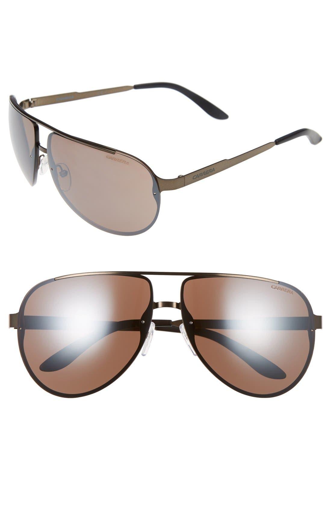 Main Image - Carrera Eyewear CA102 65mm Aviator Sunglasses