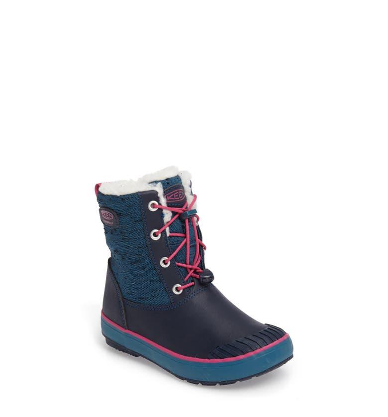 Keen elsa waterproof faux fur lined snow boot toddler