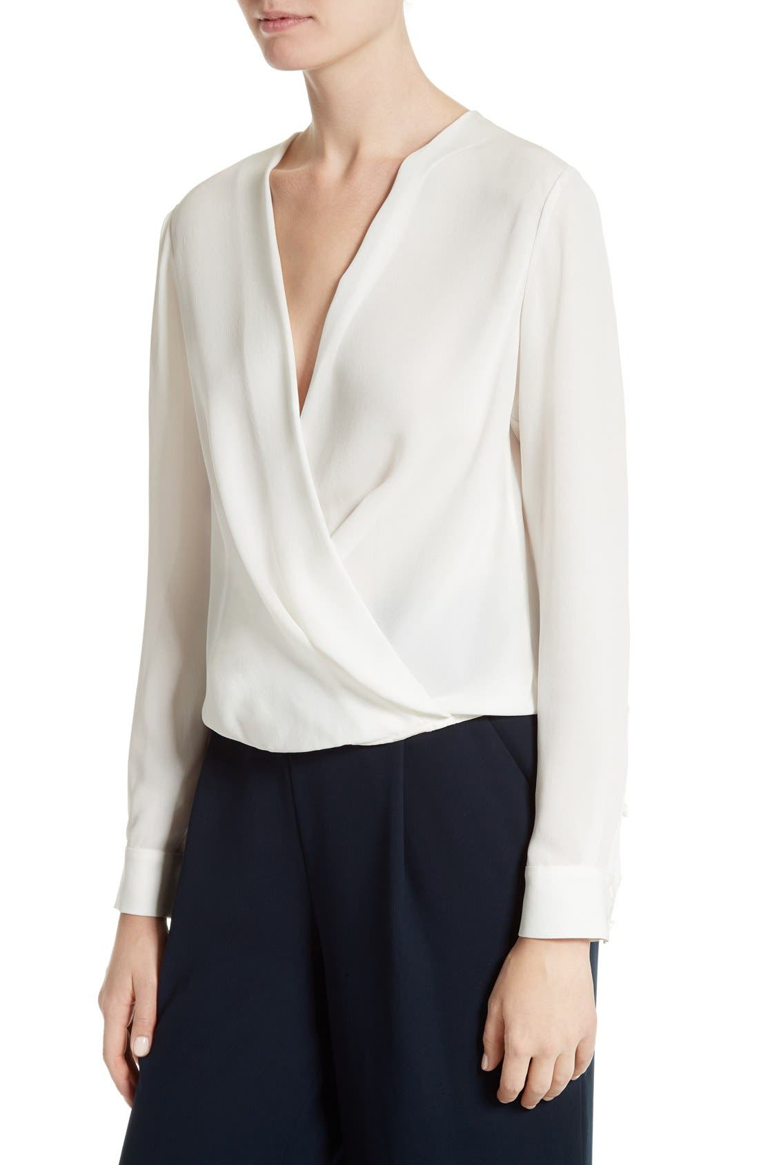 Alternate Image 4  - Diane von Furstenberg Marci Faux Wrap Silk Blouse