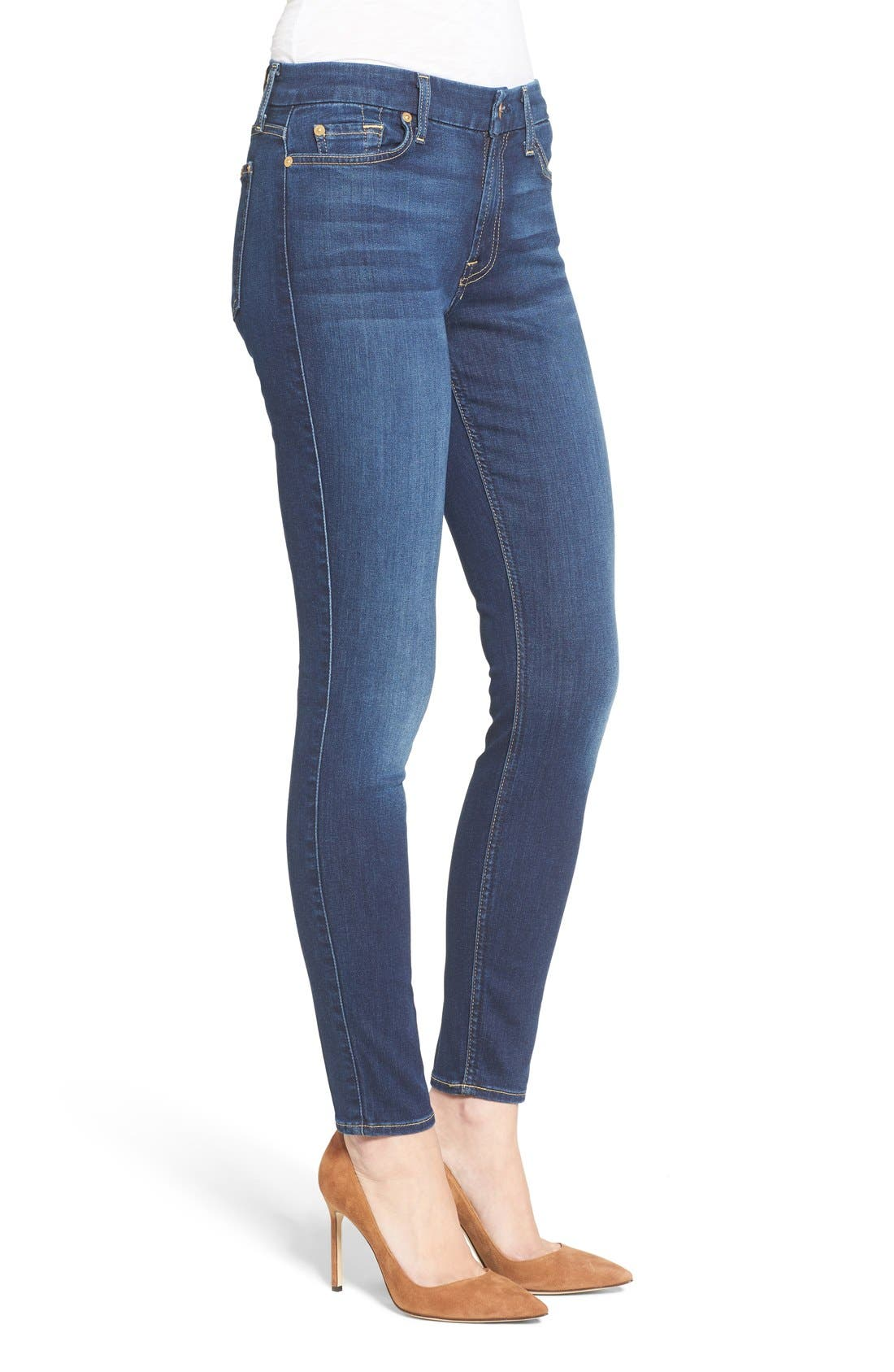 Alternate Image 7  - 7 For All Mankind® 'b(air) - The Ankle' Skinny Jeans (Duchess 2)