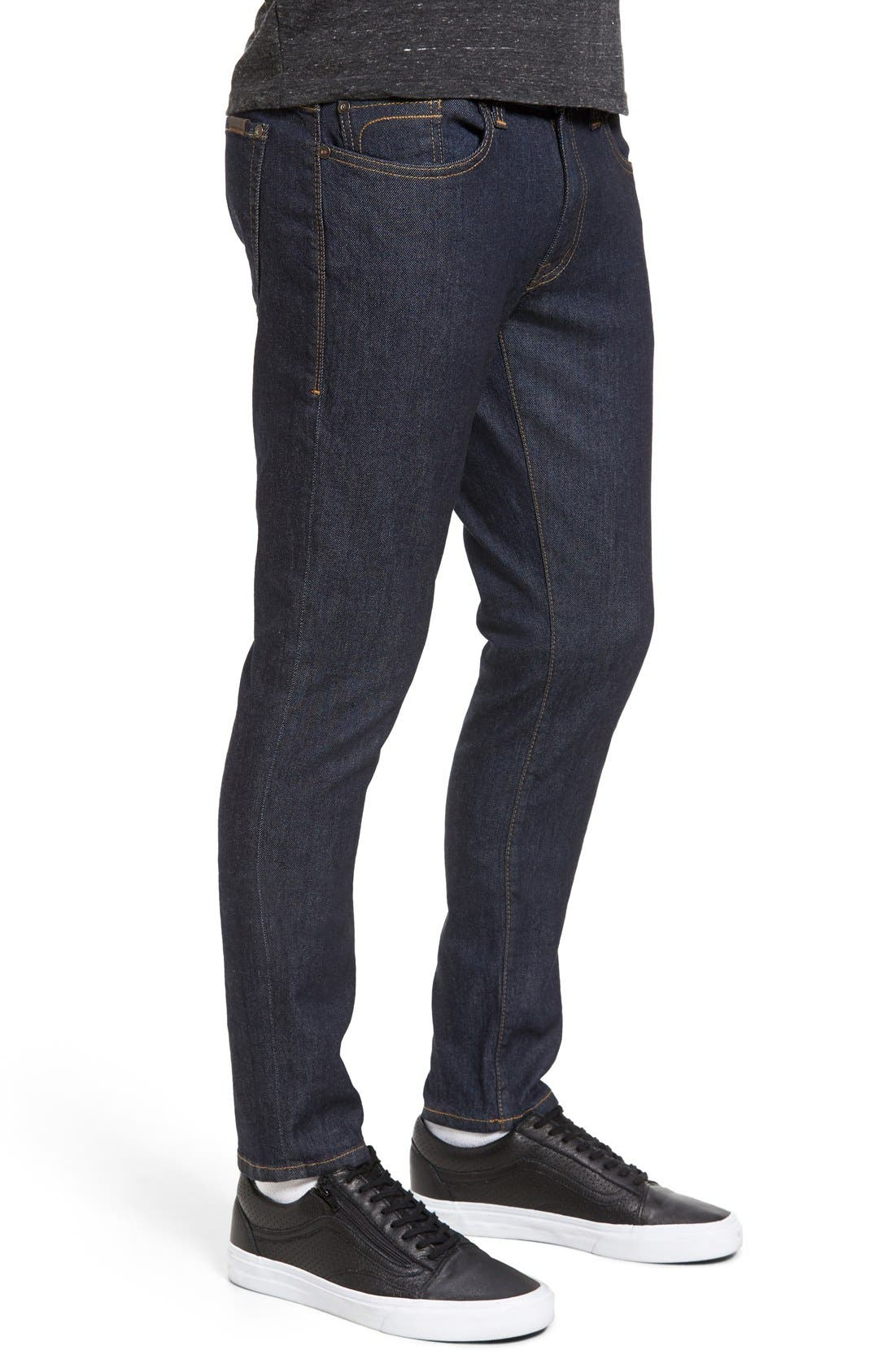 Alternate Image 3  - Fidelity Denim Vantage Skinny Fit Jeans (Halo Rinse)