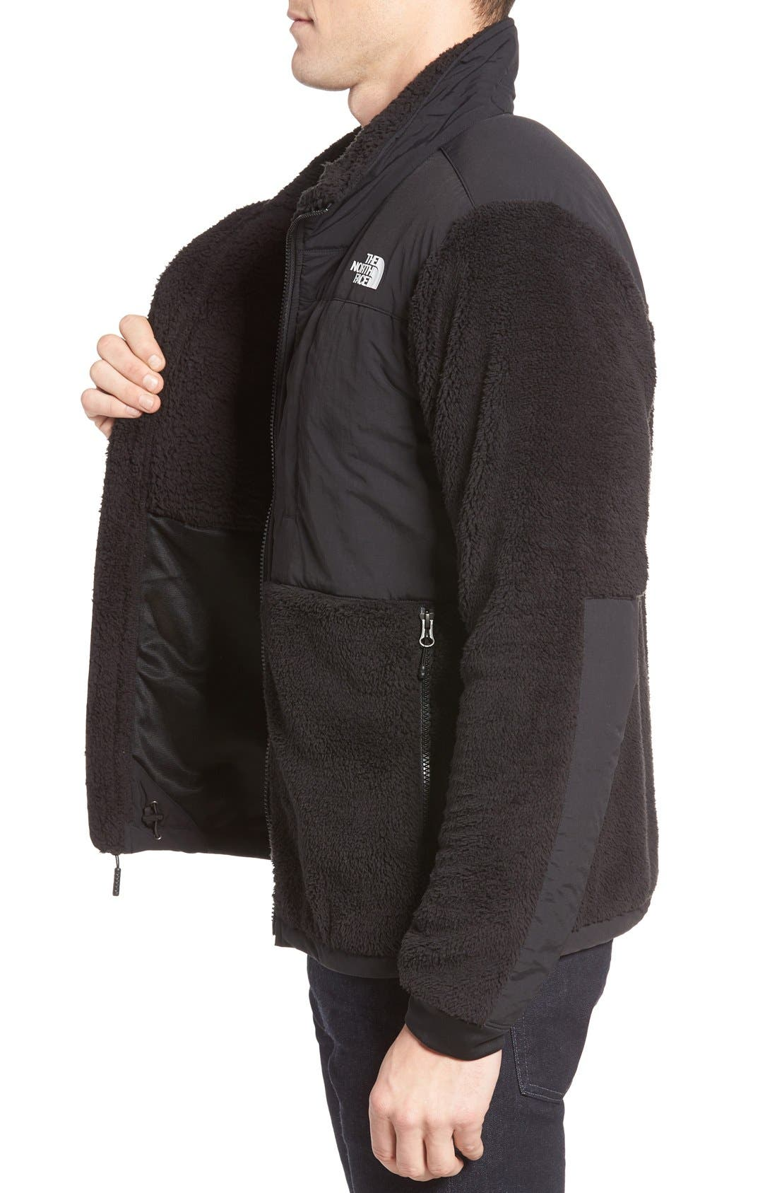 Novelty Denali Jacket,                             Alternate thumbnail 3, color,                             Tnf Black Sherpa/ Tnf Black