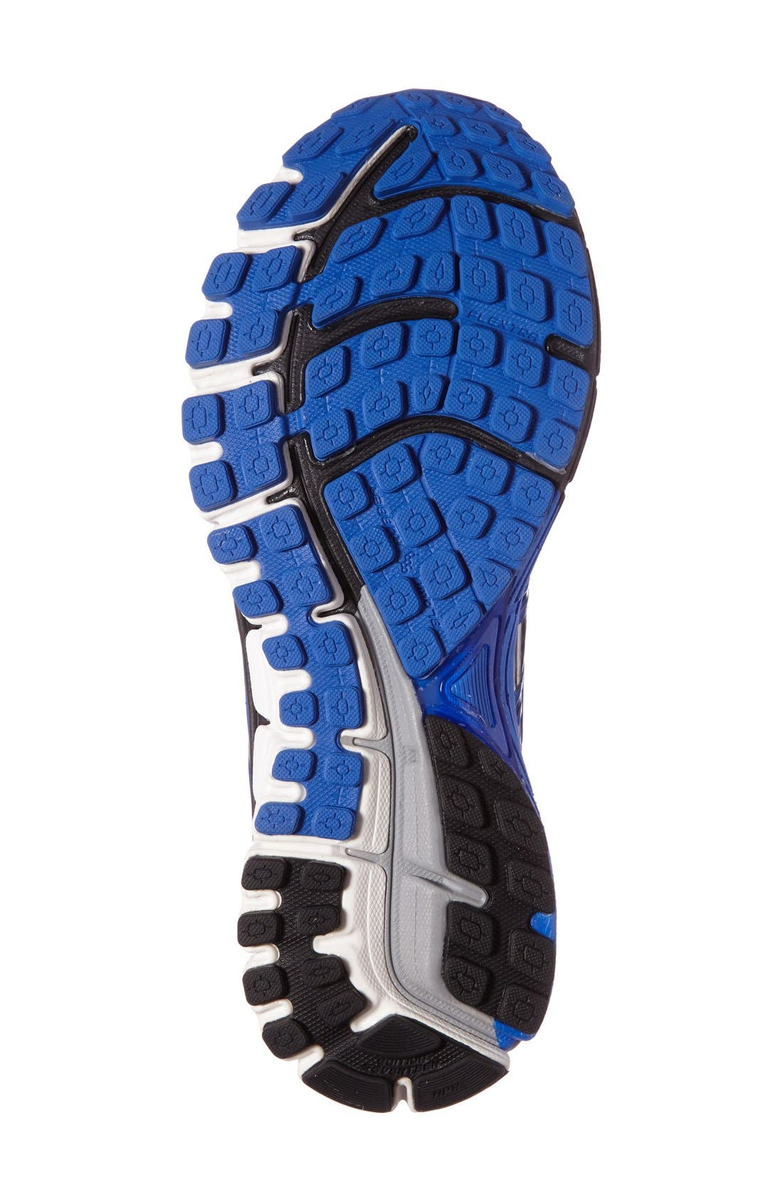 Adrenaline GTS 17 Running Shoe,                             Alternate thumbnail 4, color,                             Anthracite/ Blue/ Silver