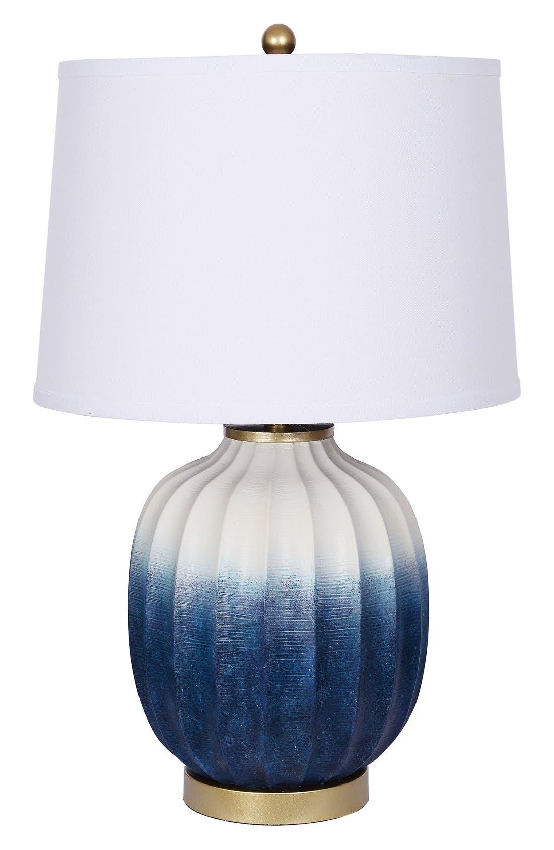 JAlexander Ombré Table Lamp,                             Main thumbnail 1, color,                             Blue