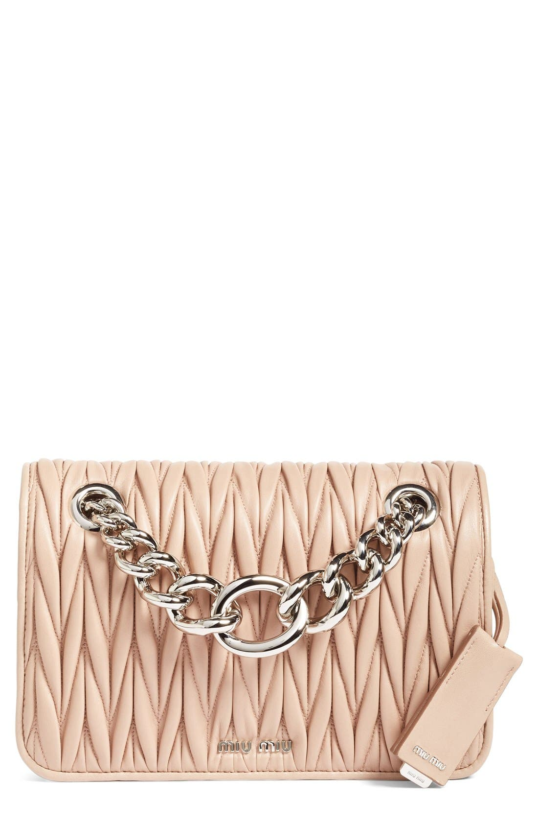 Main Image - Miu Miu Club Matelassé Leather Shoulder Bag