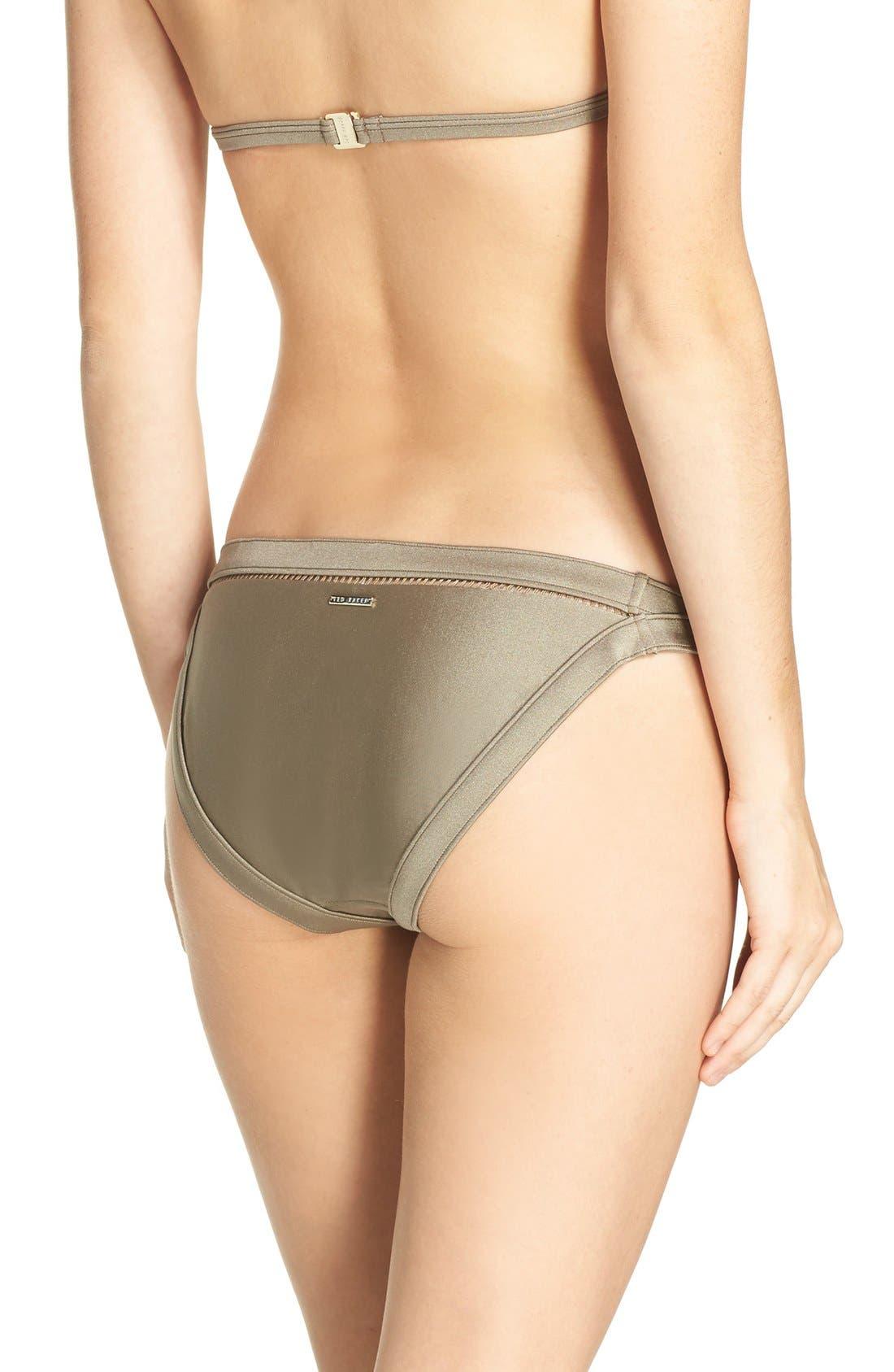 Bikini Bottoms,                             Alternate thumbnail 2, color,                             Khaki