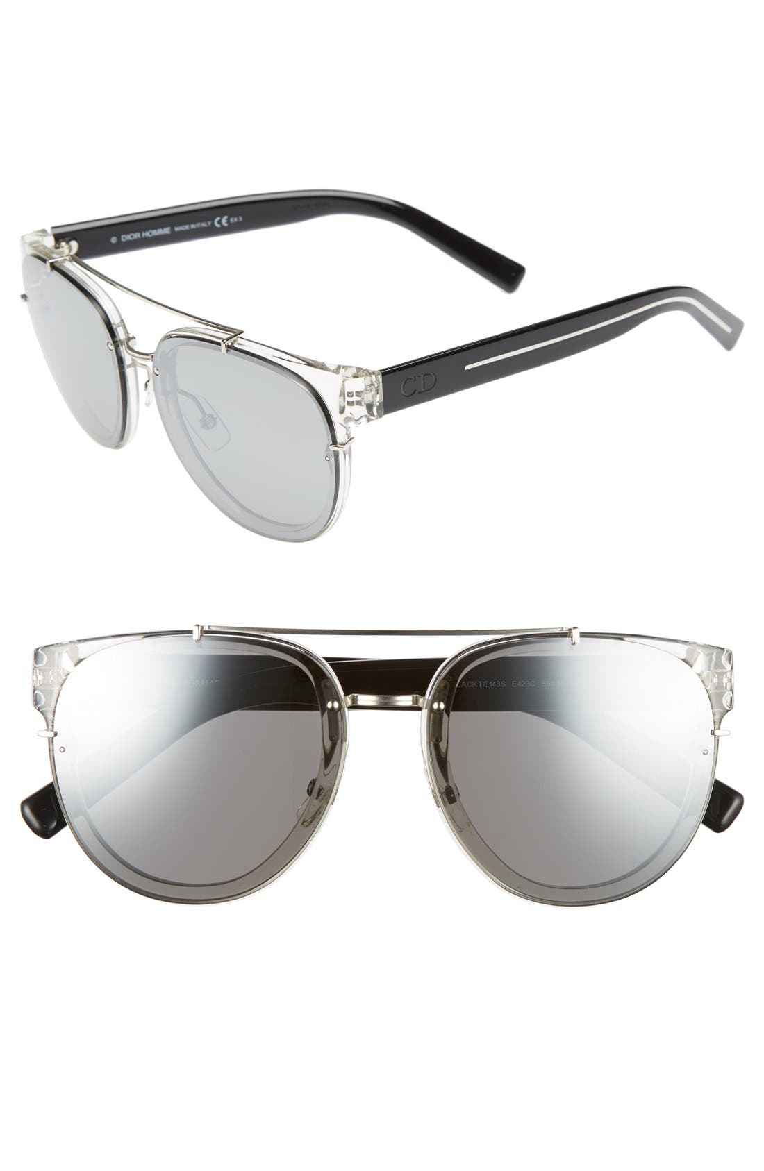 'Black Tie' 56mm Sunglasses,                         Main,                         color, Crystal Black Crystal