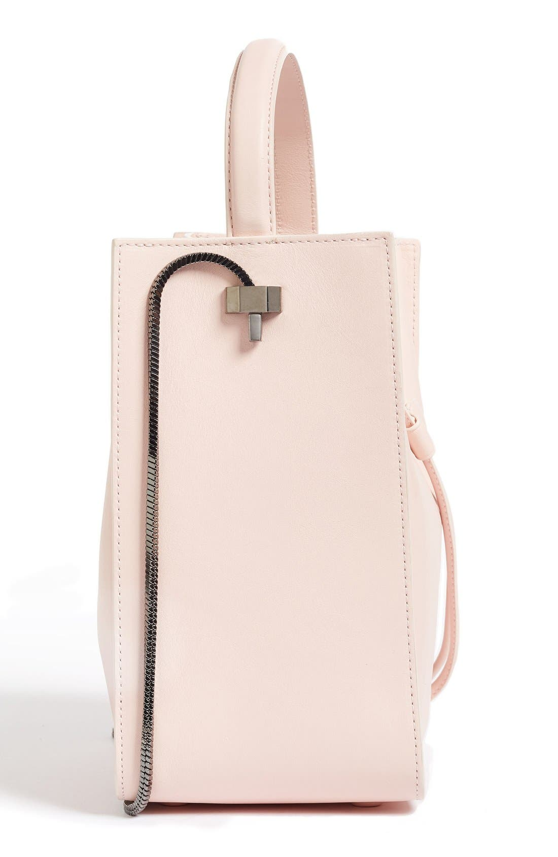 Mini Soleil Leather Bucket Bag,                             Alternate thumbnail 5, color,                             Light Pink