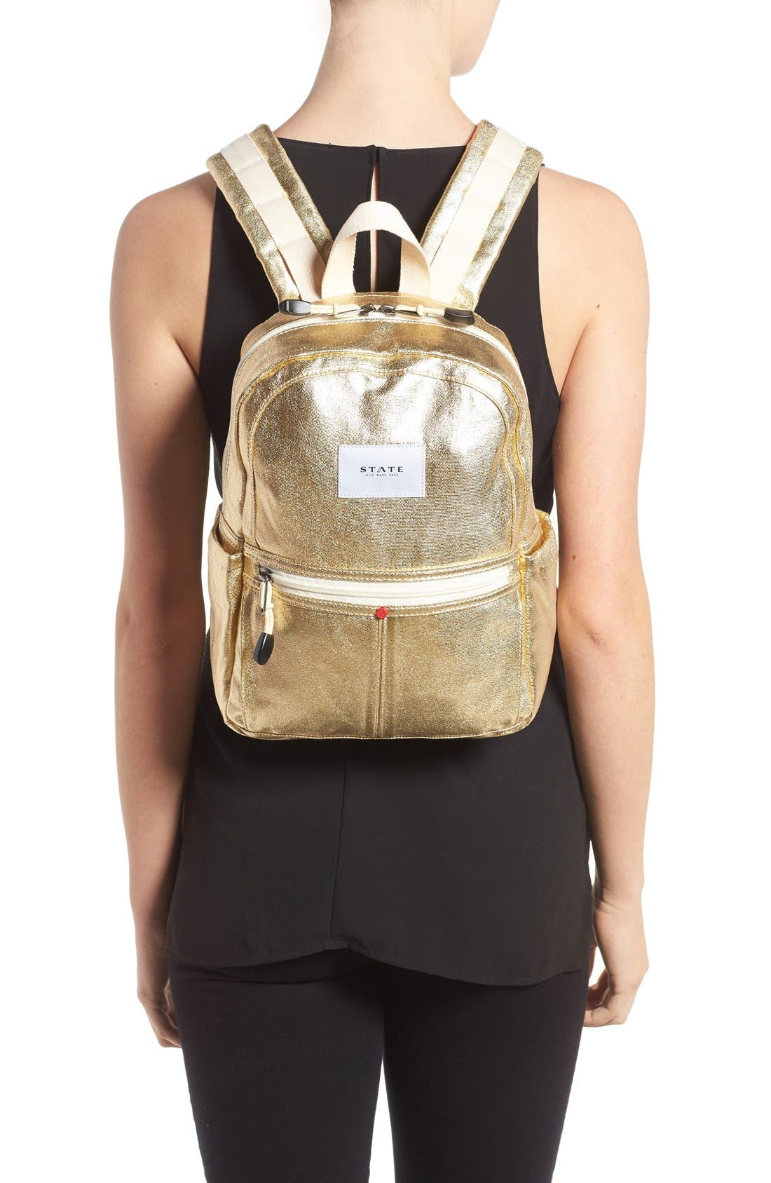 Alternate Image 2  - STATE Bags Downtown Mini Kane Canvas Backpack
