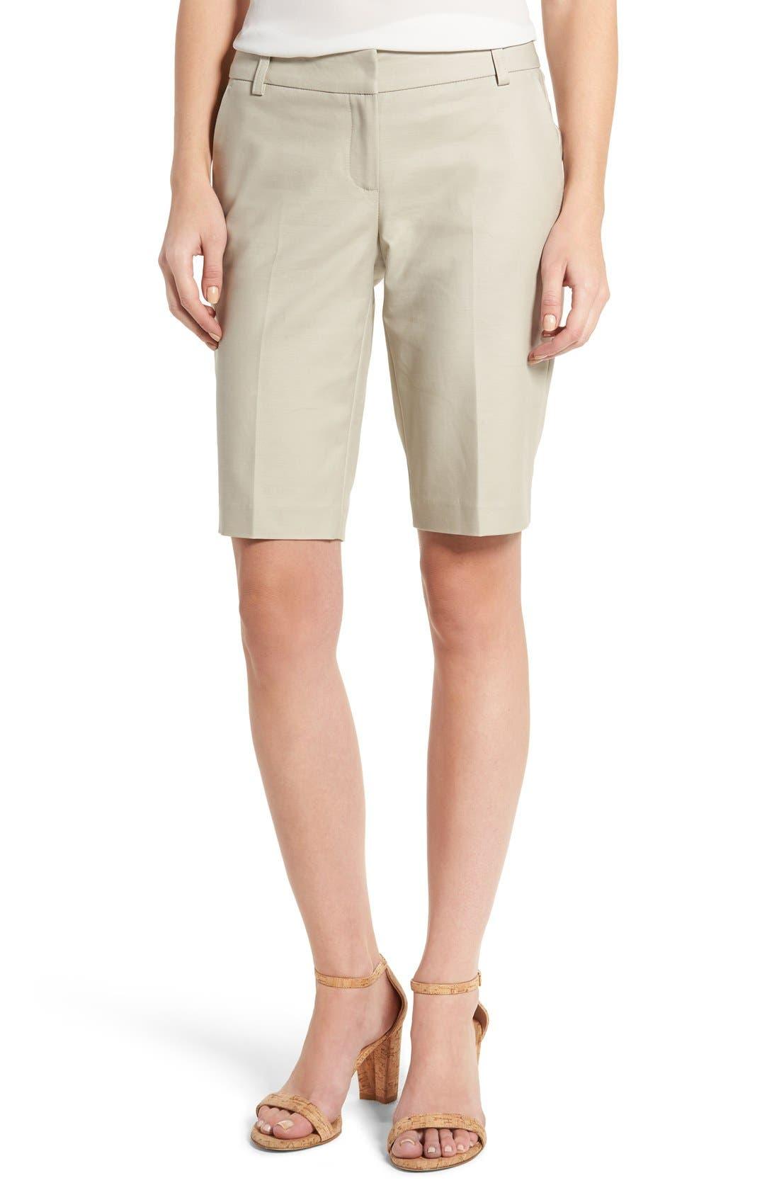 Halogen® Stretch Bermuda Shorts (Regular & Petite)