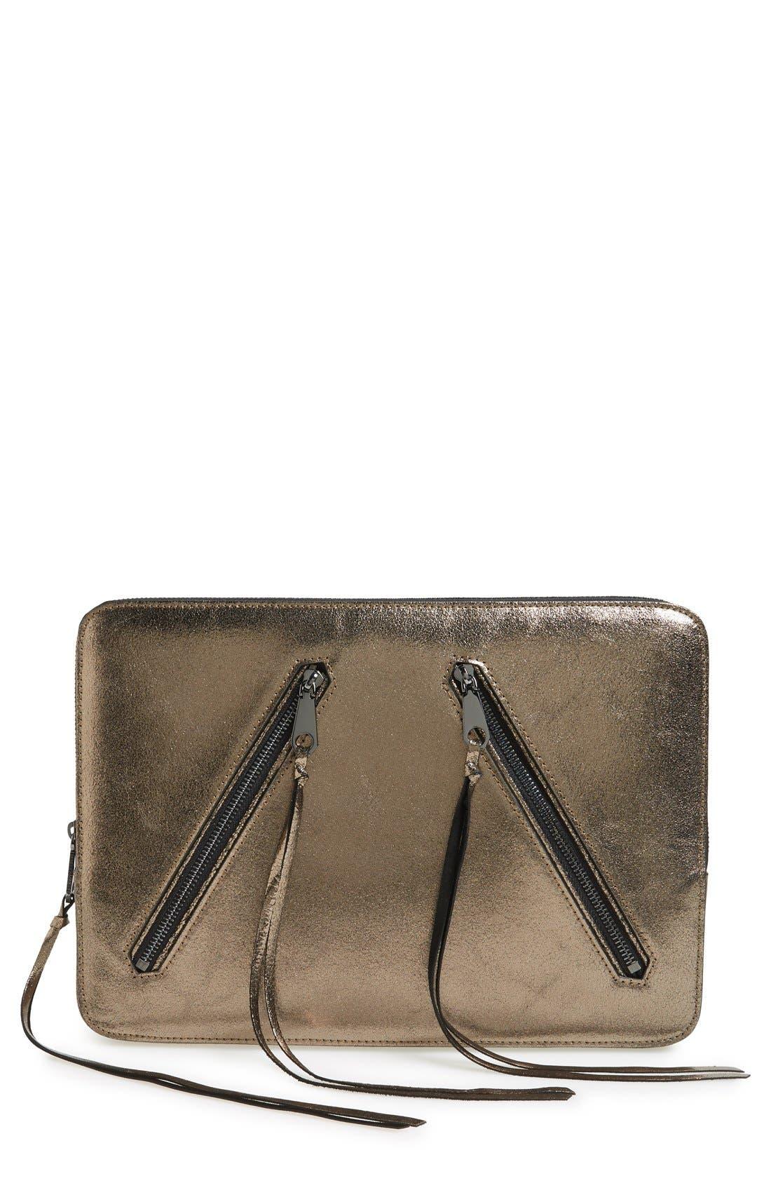 Main Image - Rebecca Minkoff Double Zip 13 Inch Laptop Sleeve
