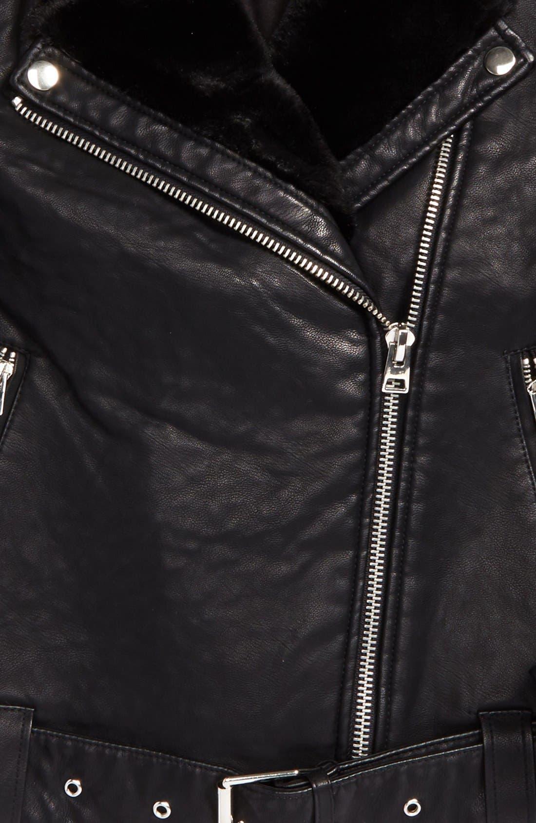 Alternate Image 7  - Topshop Vardy Faux Leather Biker Jacket