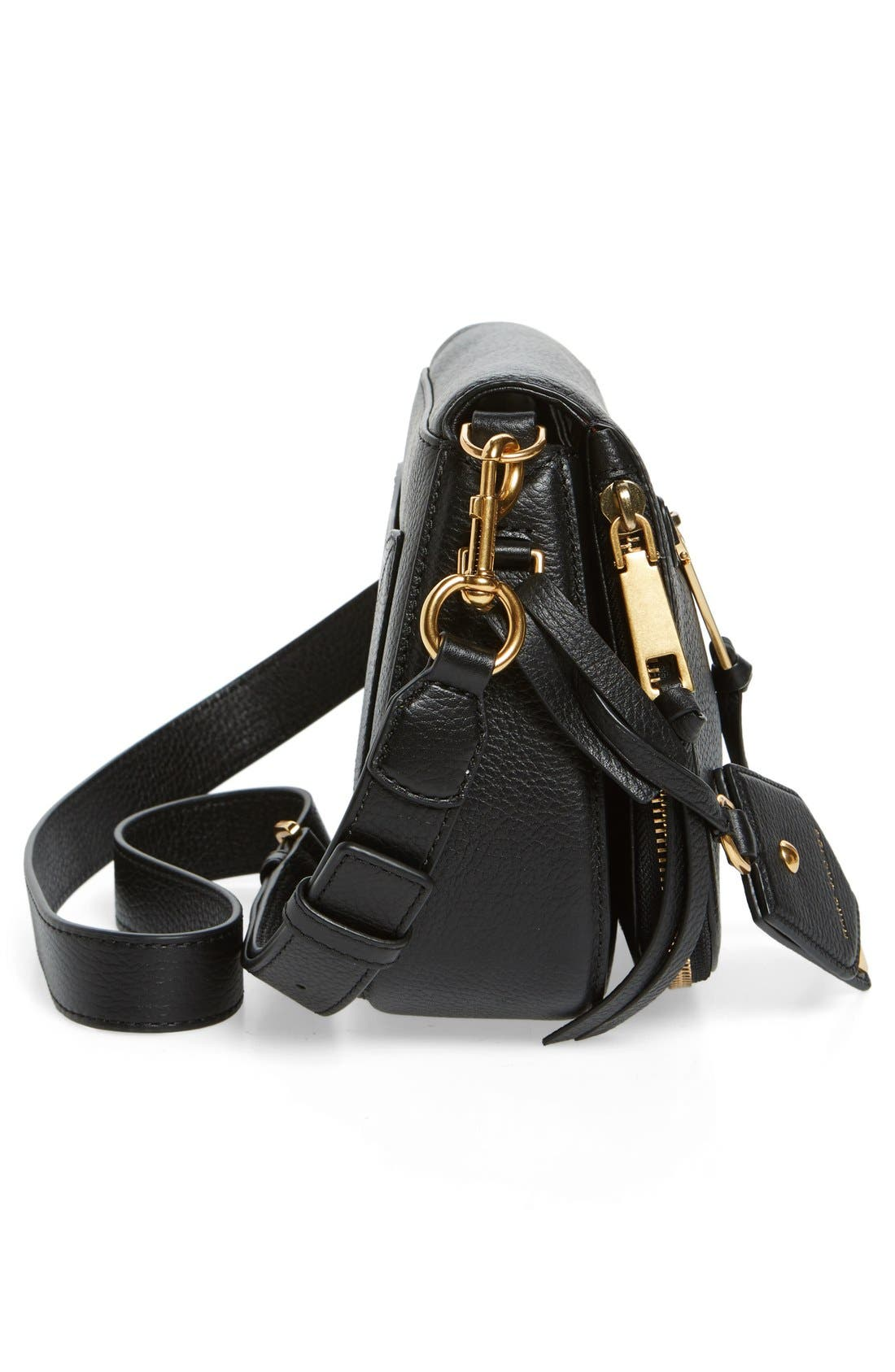 Alternate Image 4  - MARC JACOBS Small Recruit Nomad Pebbled Leather Crossbody Bag