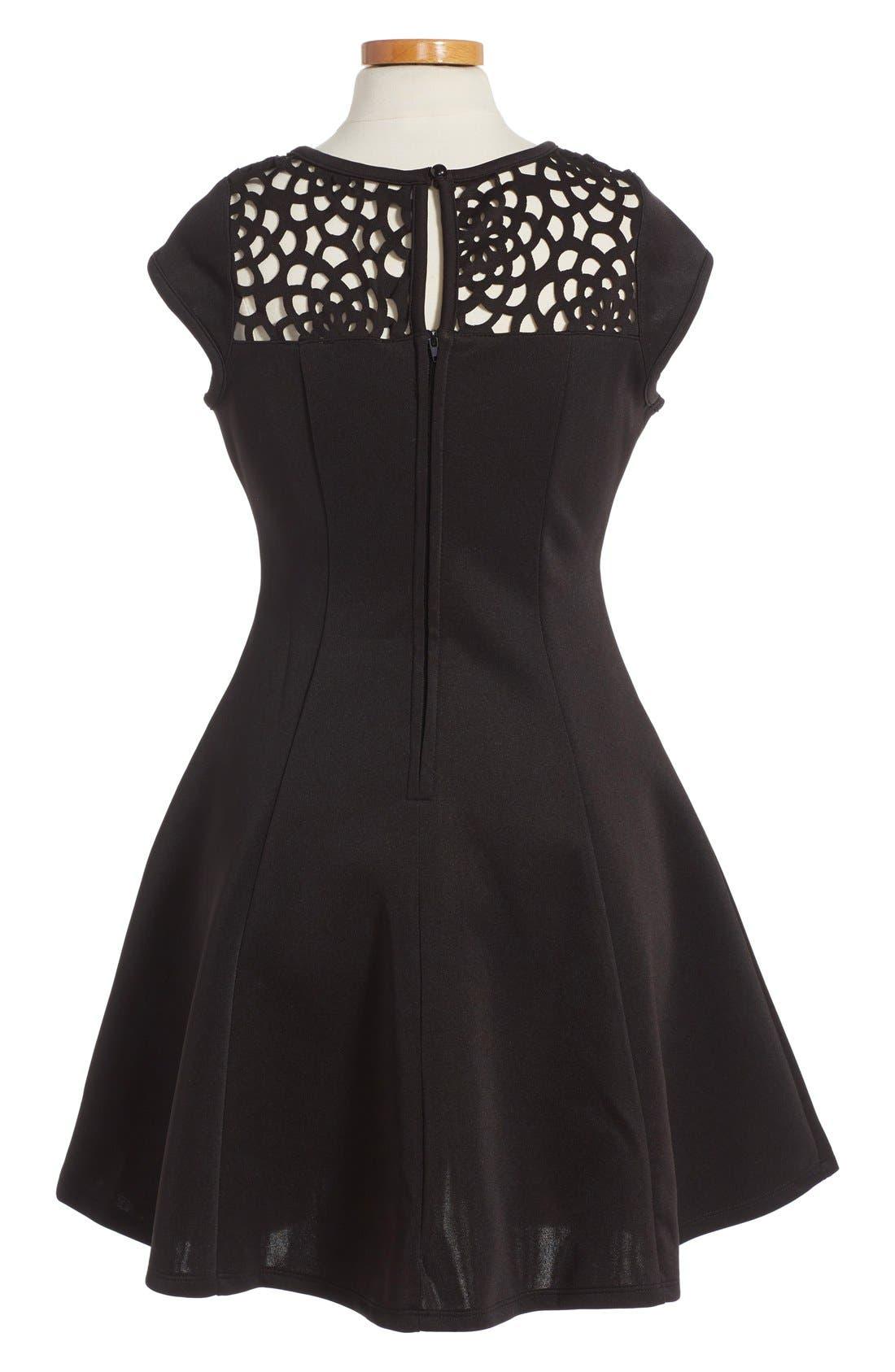 Alternate Image 2  - Ten Sixty Sherman Cap Sleeve Dress (Big Girls)