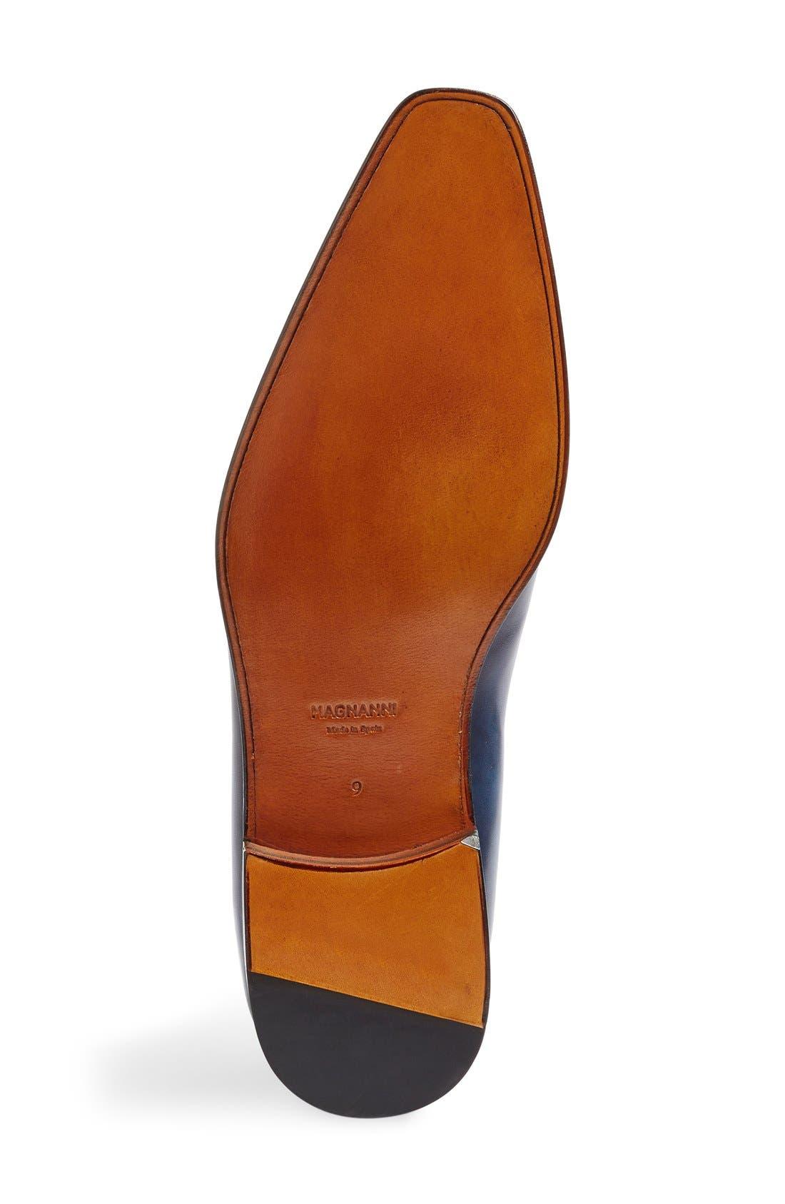 Beltran Monk Strap Shoe,                             Alternate thumbnail 4, color,                             Navy