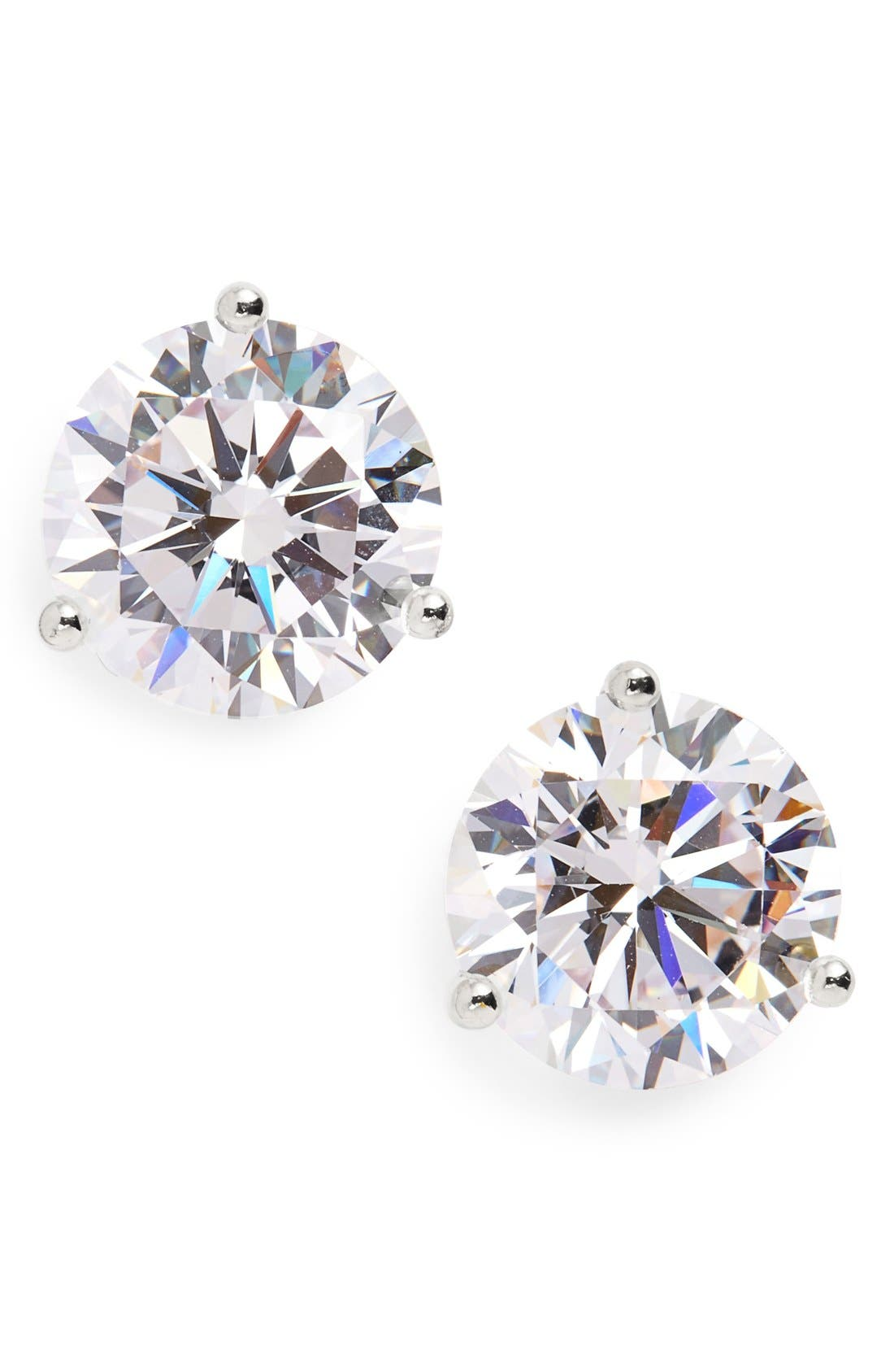 Alternate Image 1 Selected - Nordstrom Precious Metal Plated 6ct tw Cubic Zirconia Earrings