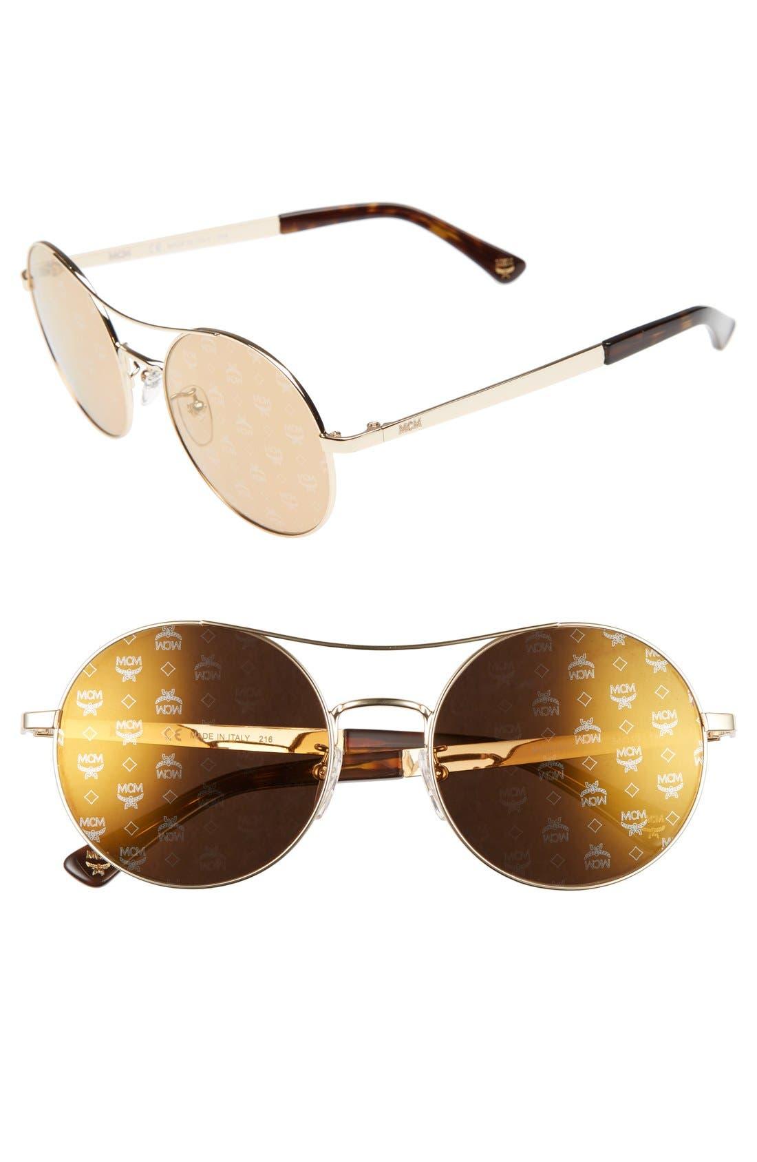 MCM 54mm Round Logo Sunglasses