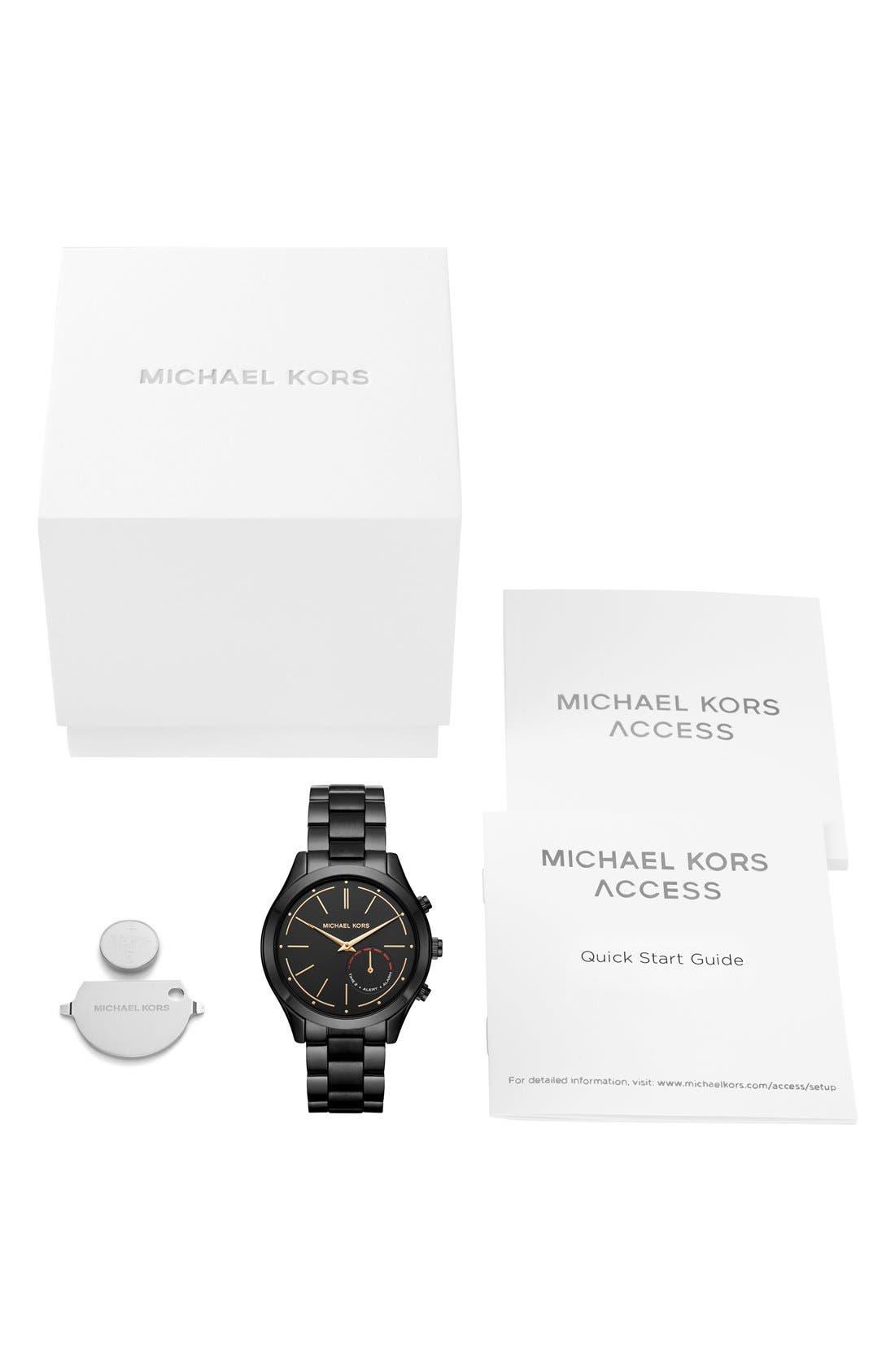 MICHAEL Michael Kors Slim Runway Smart Watch, 42mm,                             Alternate thumbnail 6, color,                             Black