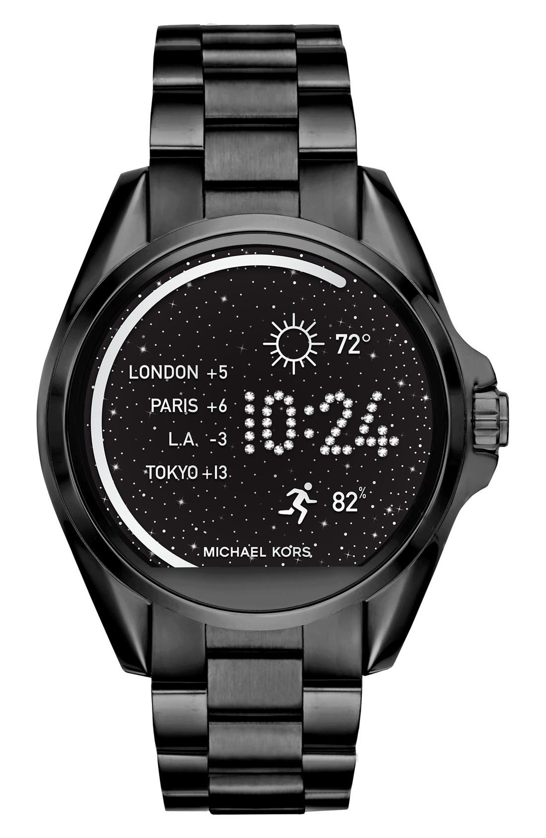 Alternate Image 1 Selected - MICHAEL Michael Kors Bradshaw Access Bracelet Smart Watch, 45mm