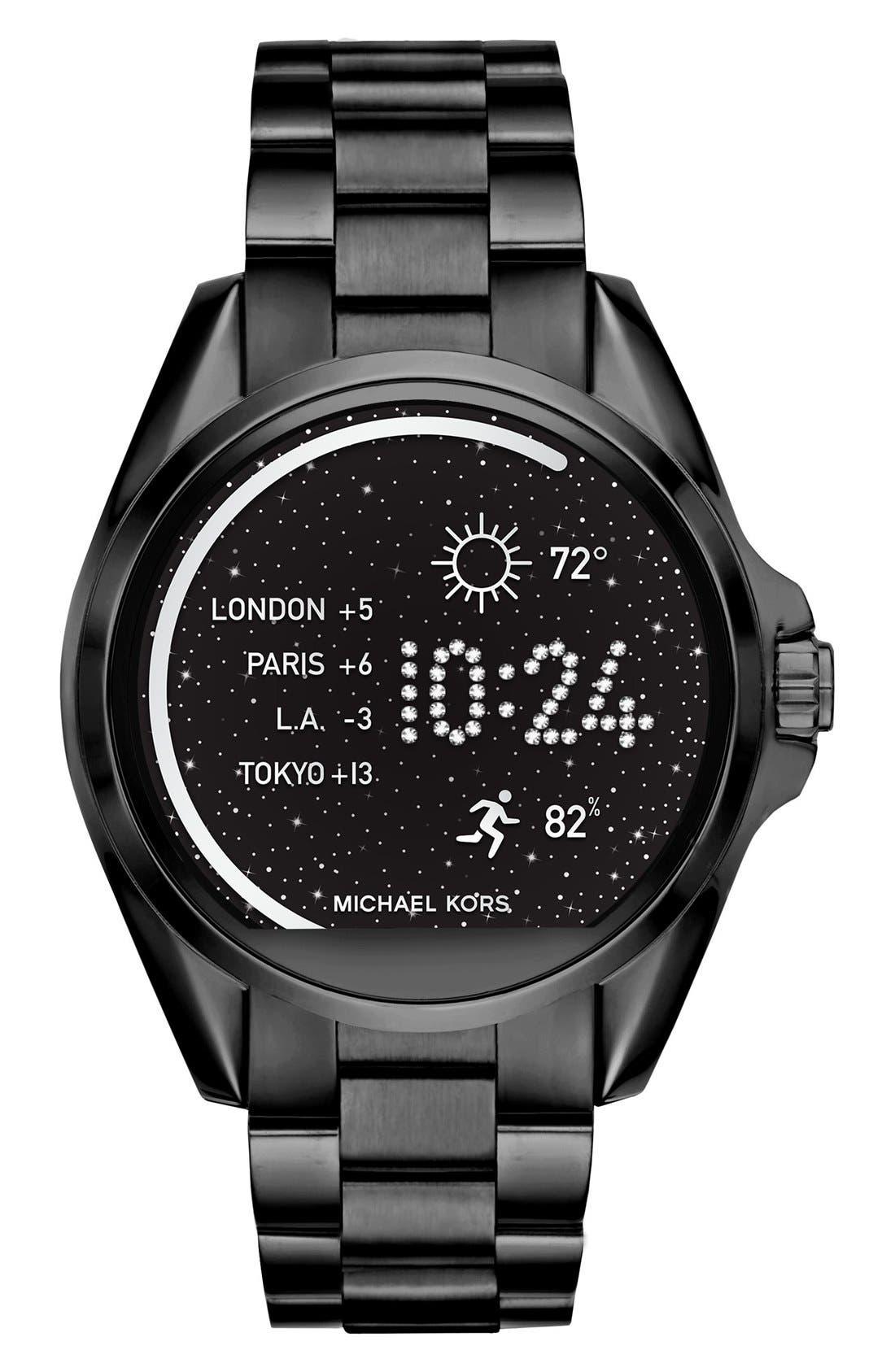 MICHAEL Michael Kors Bradshaw Access Bracelet Smart Watch, 45mm,                         Main,                         color, Black