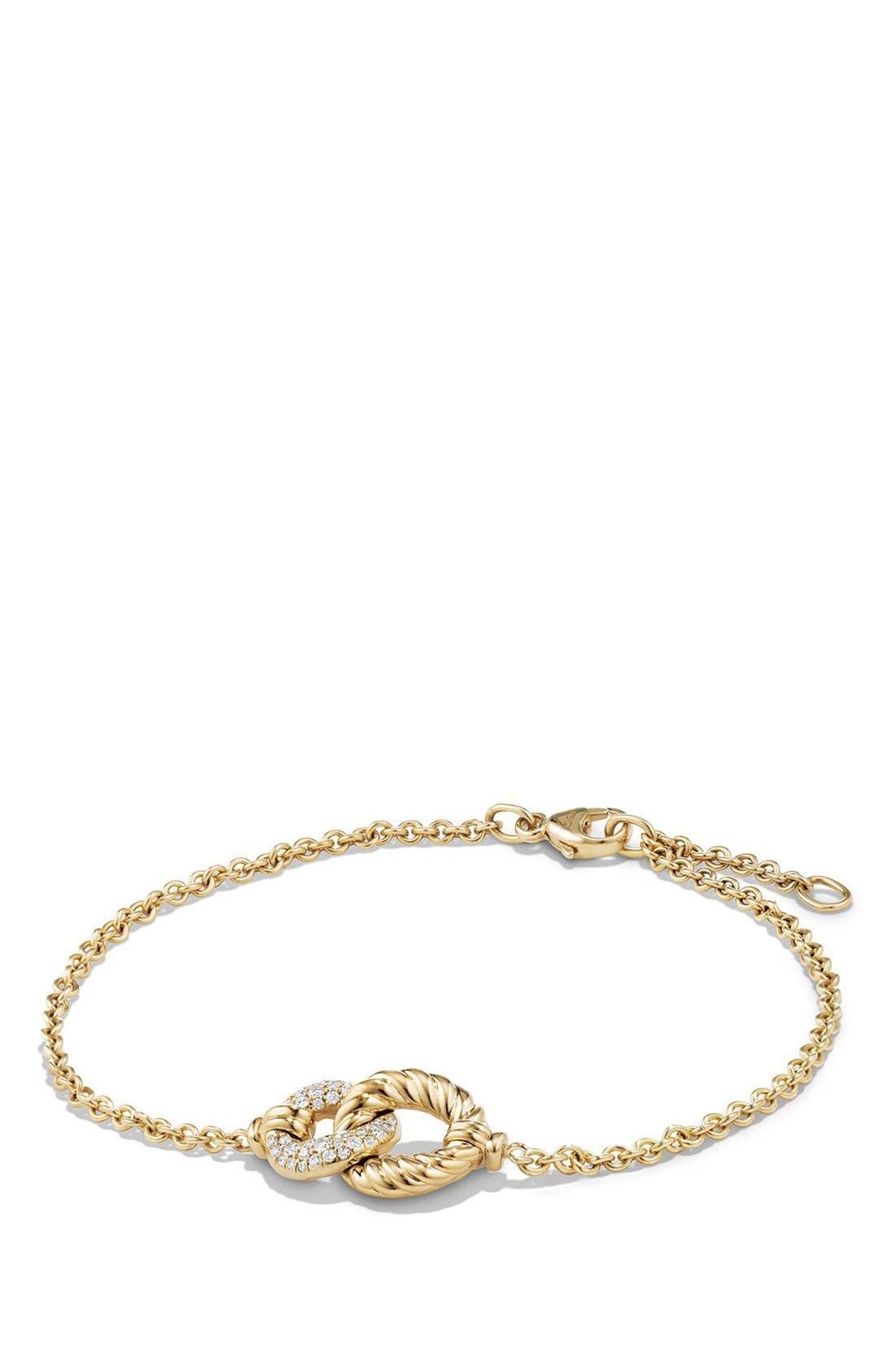 Belmont Single Station Bracelet,                             Main thumbnail 1, color,                             Yellow Gold/ Diamond