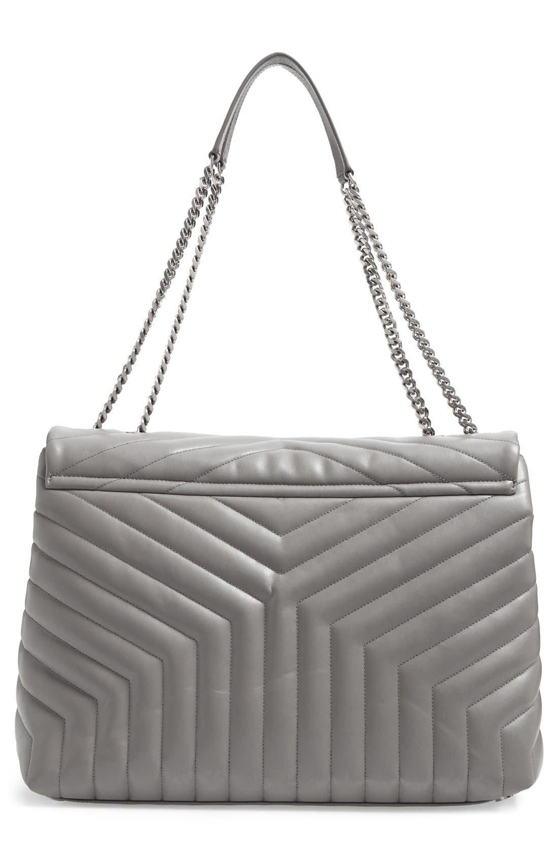 Alternate Image 3  - Saint Laurent Monogram Quilted Leather Slouchy Shoulder Bag