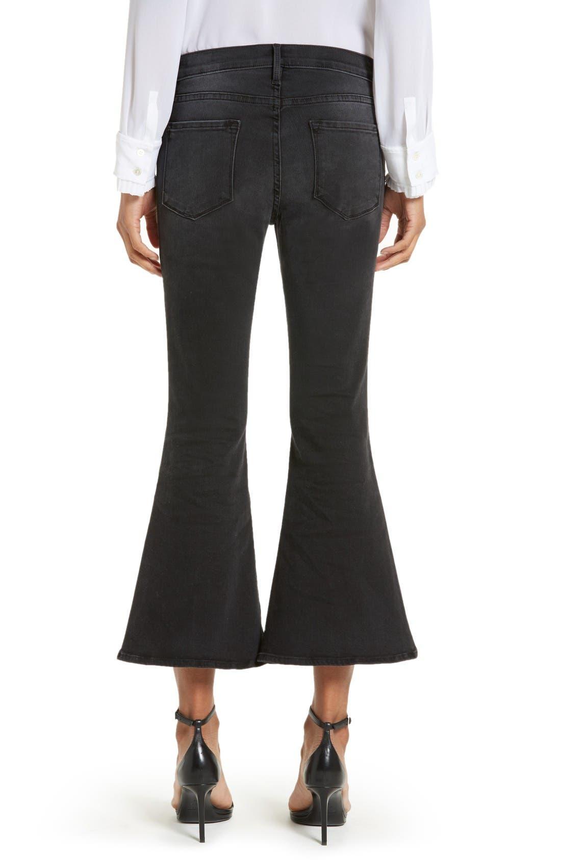 Alternate Image 2  - FRAME Le Crop Bell High Waist Crop Jeans (Whittier)