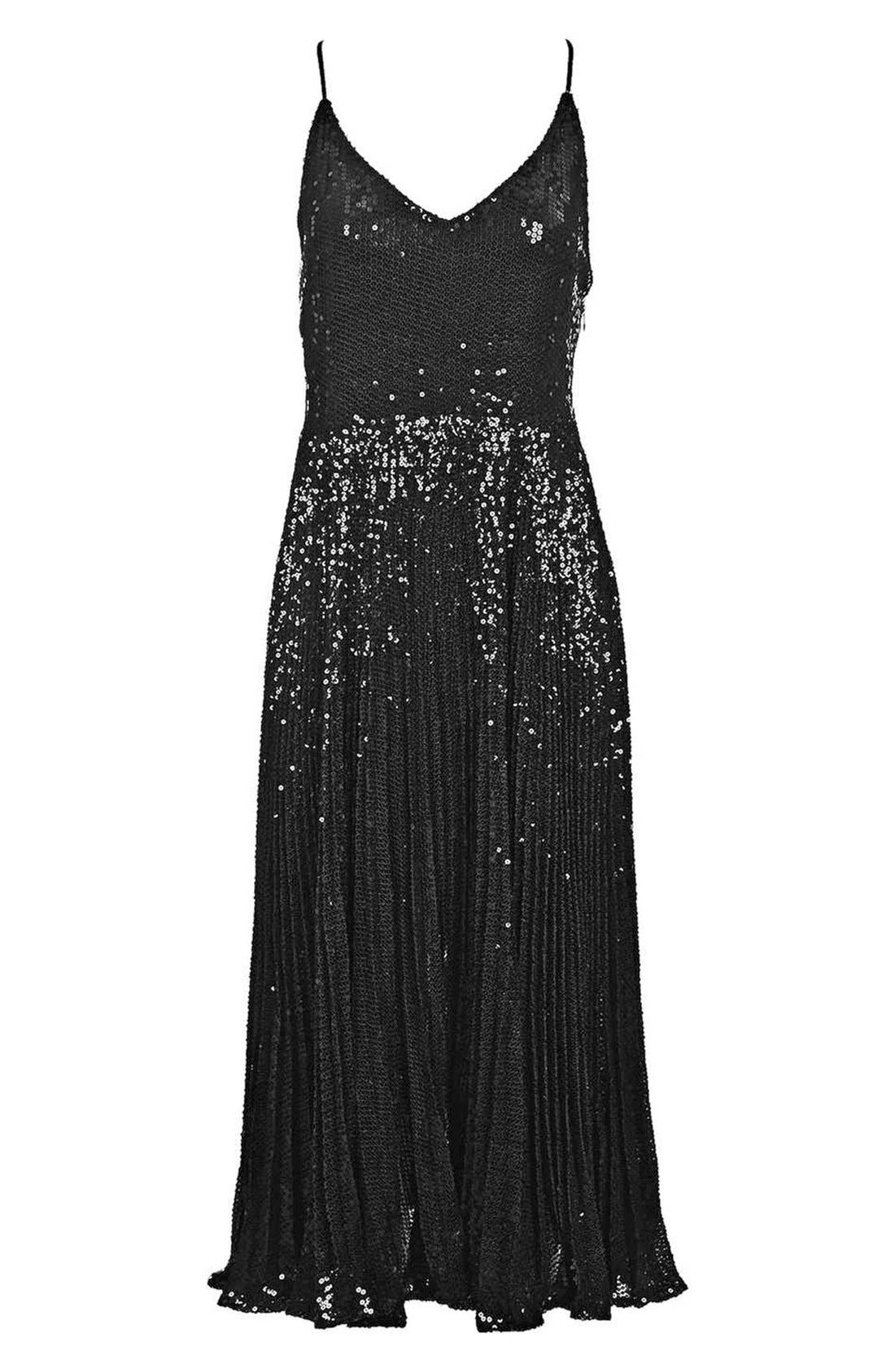 Alternate Image 4  - Topshop Sequin Pleated Dress