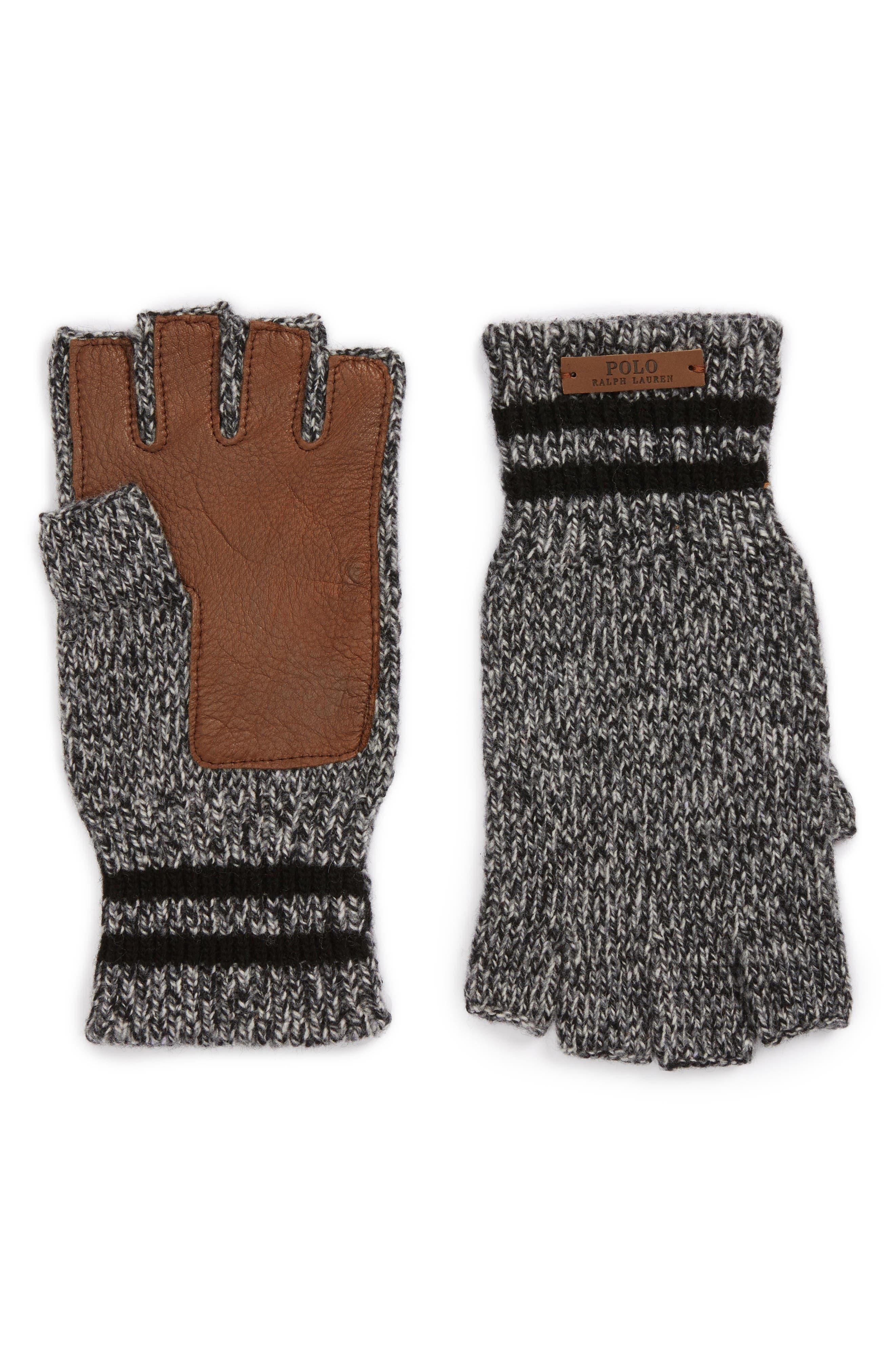 Main Image - Polo Ralph Lauren Ragg Merino Wool Blend Fingerless Gloves