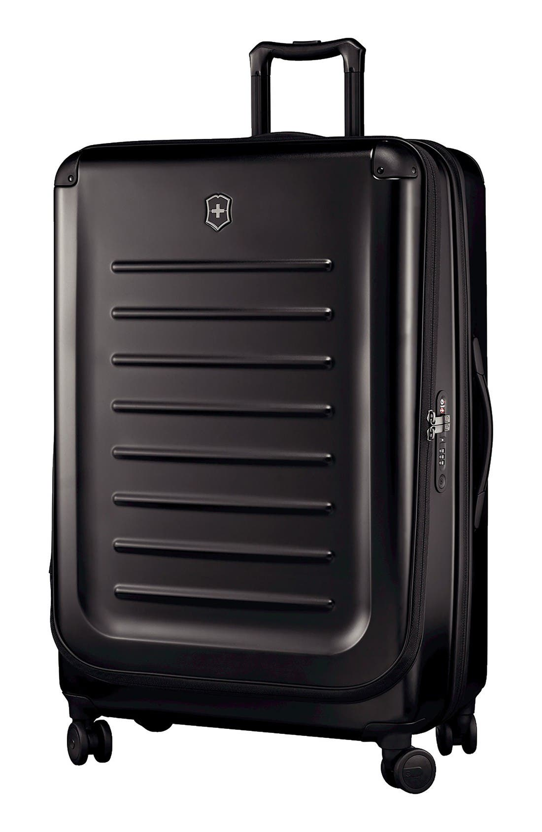 Spectra 2.0 32 Inch Hard Sided Rolling Travel Suitcase,                         Main,                         color, Black