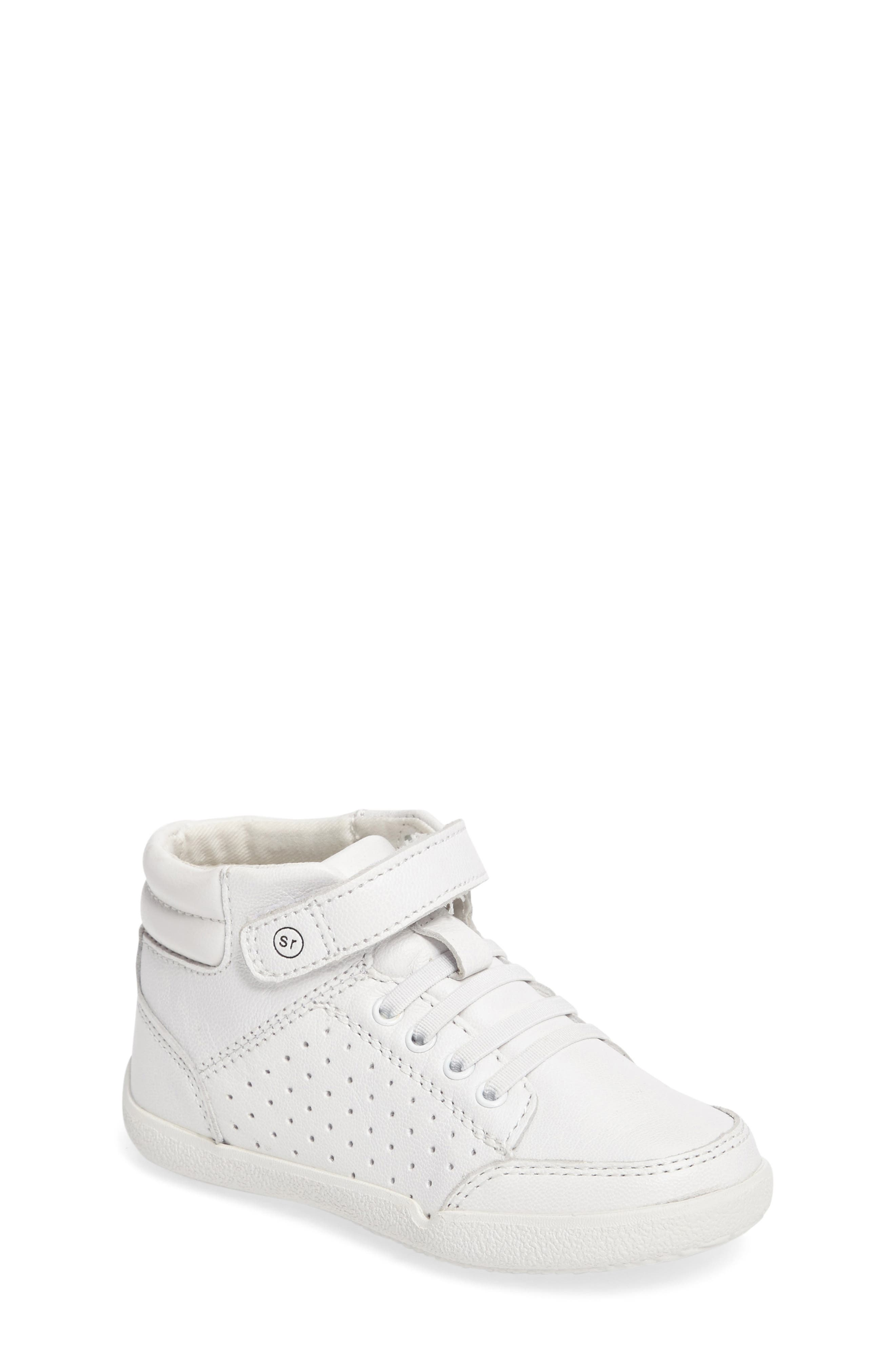Stride Rite Stone High Top Sneaker (Baby, Walker & Toddler)