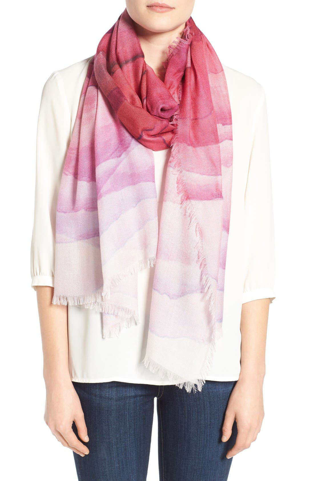 nordstrom prismatic color play silk scarf