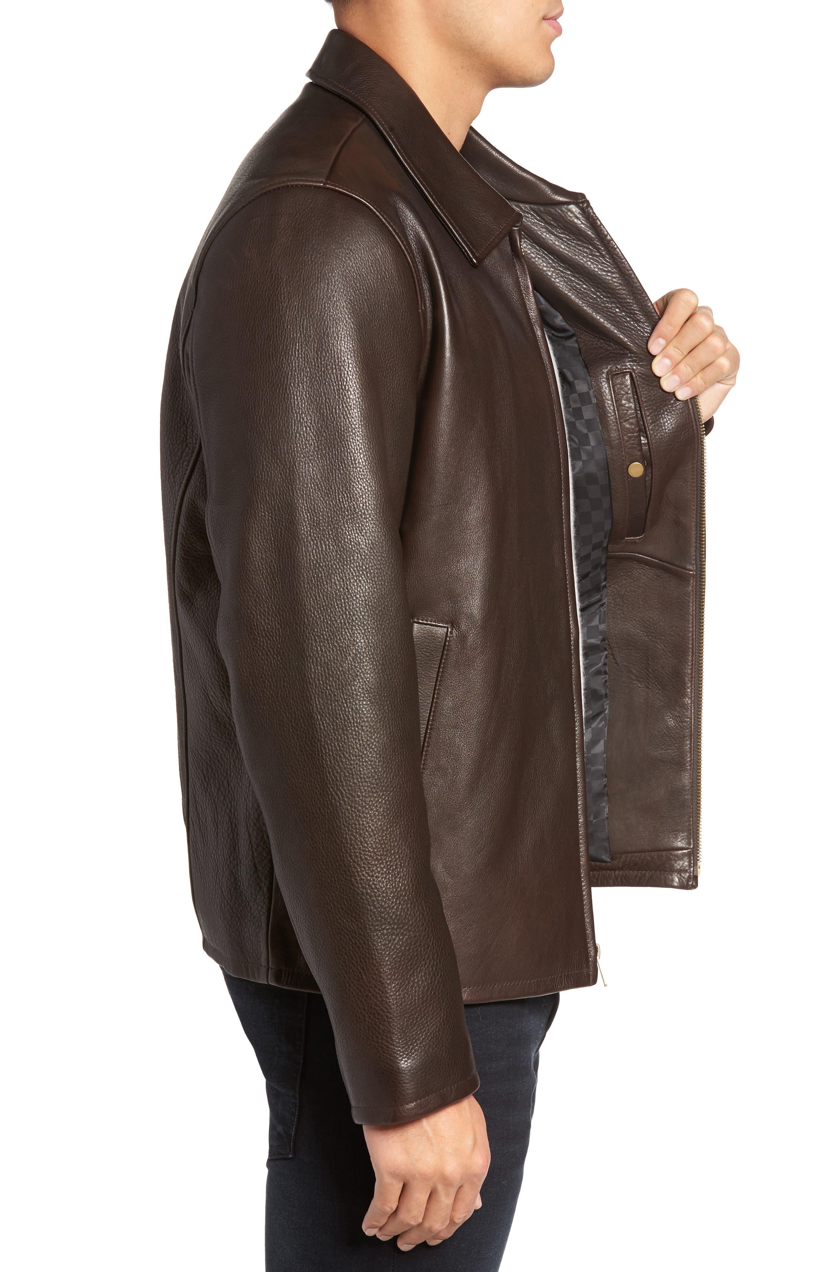 Alternate Image 3  - Vince Camuto Leather Zip Front Jacket