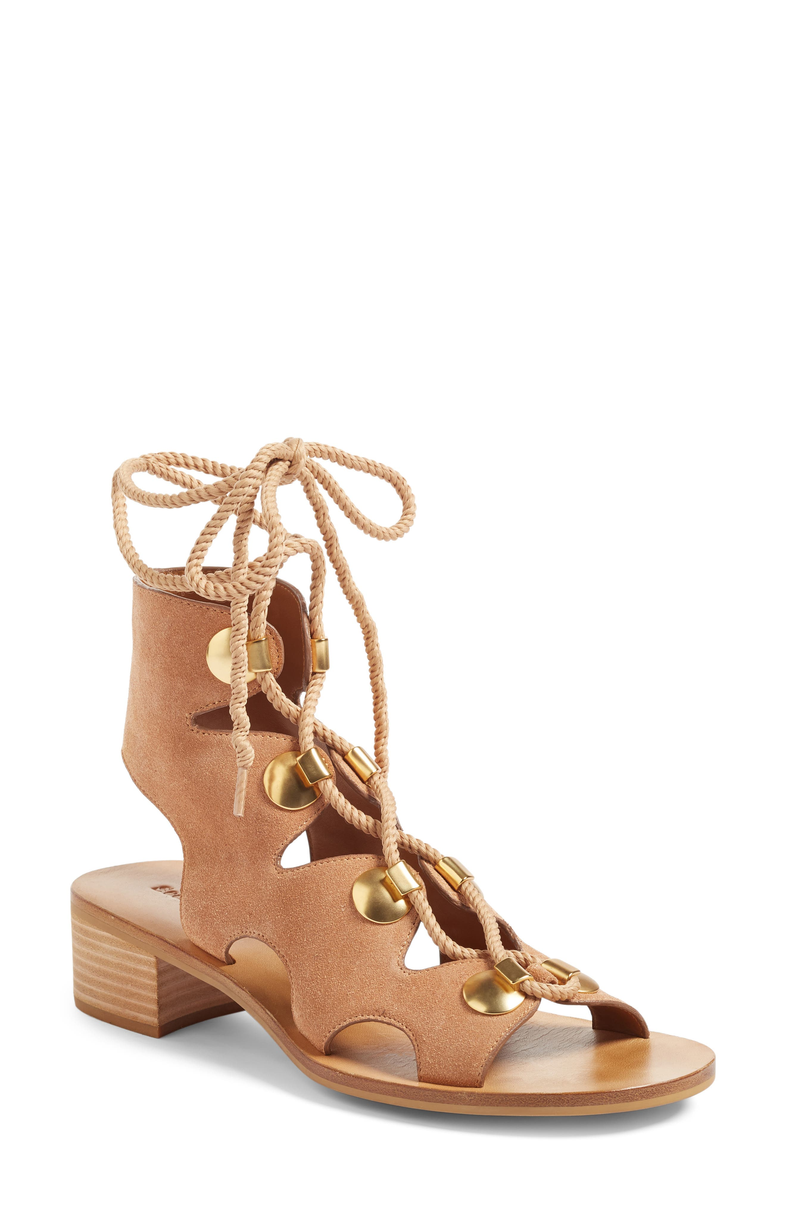 Alternate Image 1 Selected - See by Chloe Edna Gladiator Sandal (Women)
