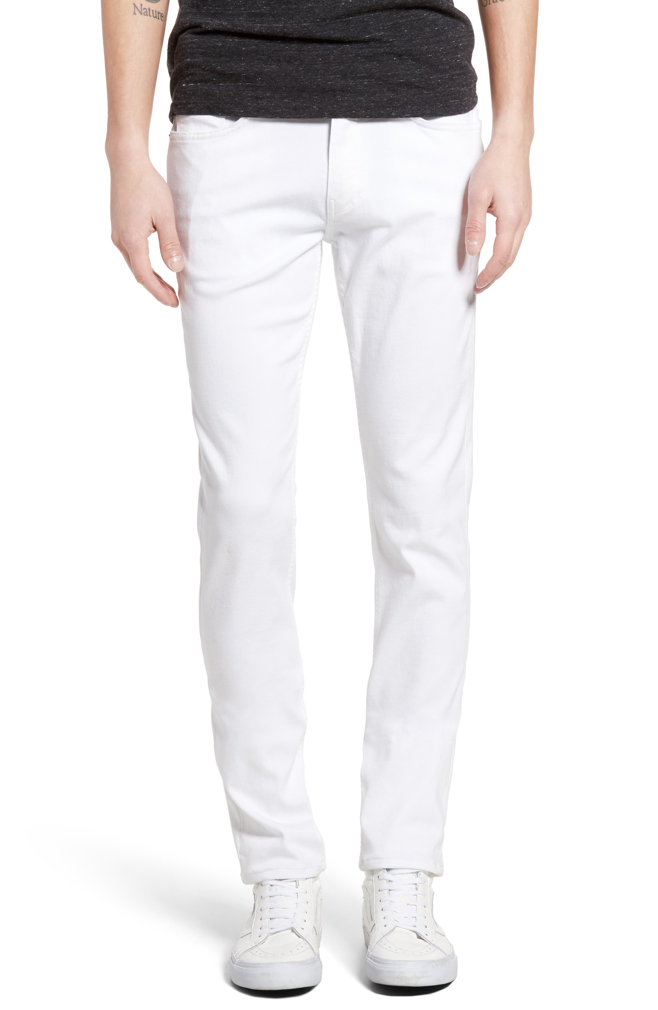 Men's White Wash Jeans, Relaxed, Bootcut Fit & Selvedge Denim ...