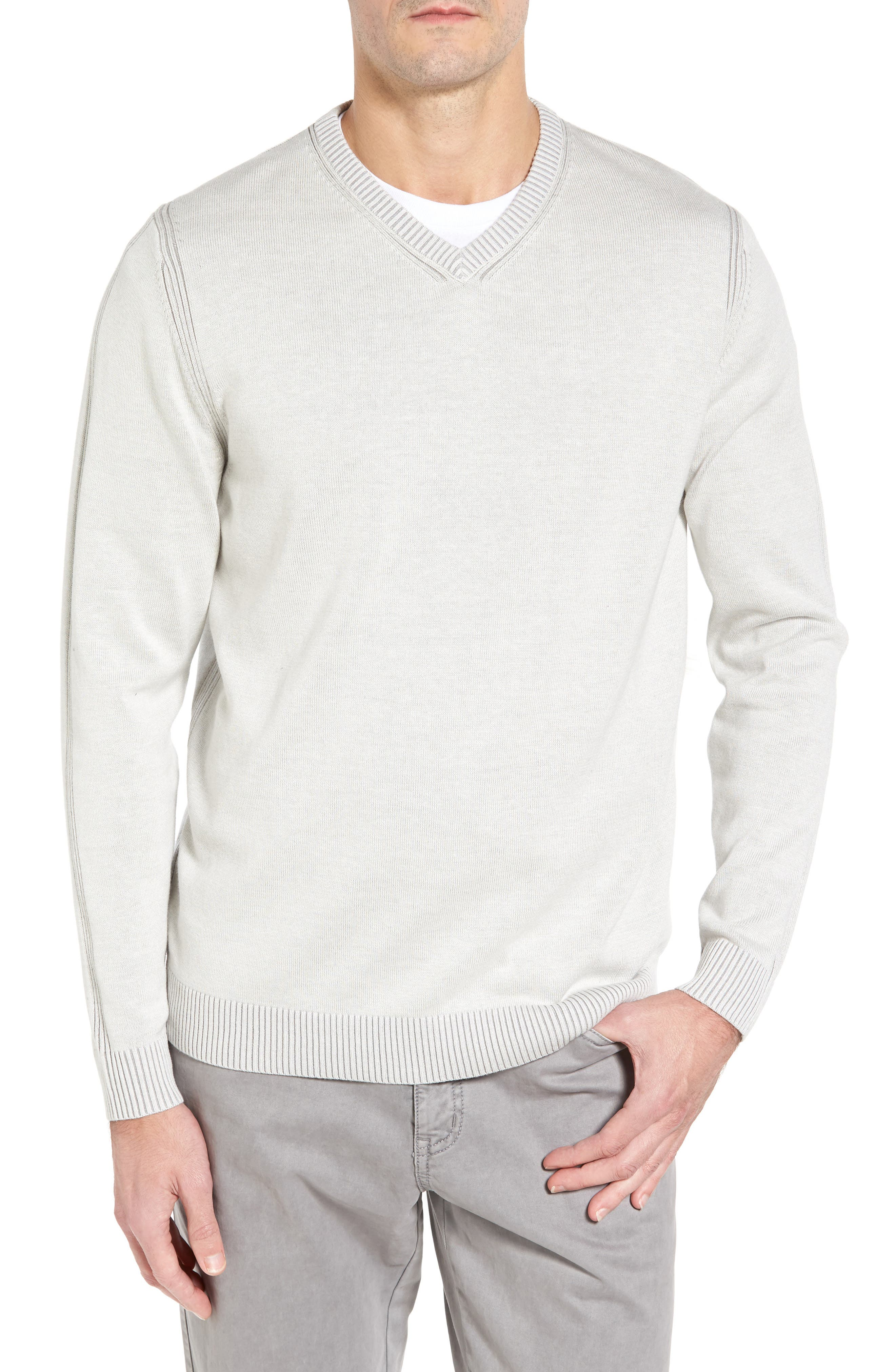 Alternate Image 1 Selected - Tommy Bahama Chief Island Officer Silk Blend Sweater