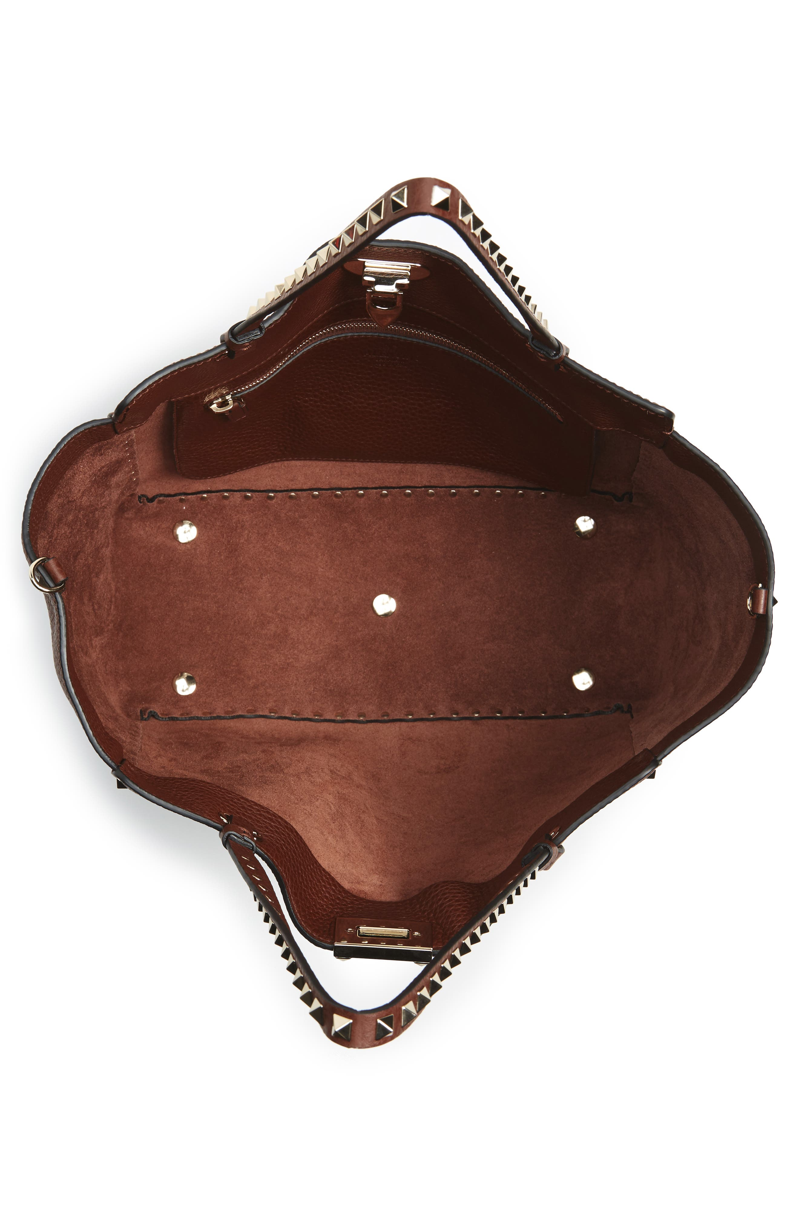 Alternate Image 3  - VALENTINO GARAVANI 'Rockstud' Grained Calfskin Leather Tote