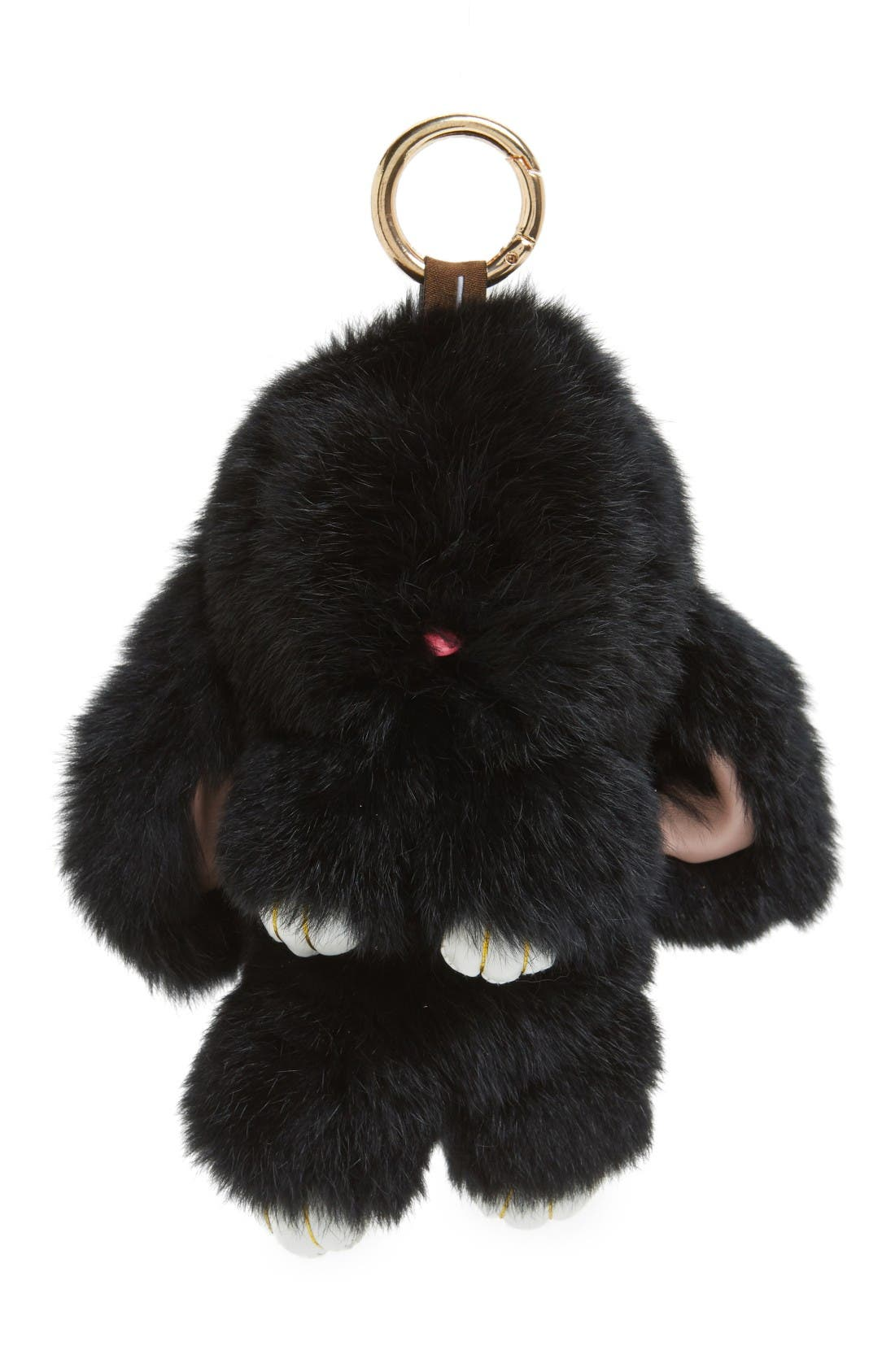 Alternate Image 1 Selected - Natasha Couture Genuine Rabbit Fur Bag Charm