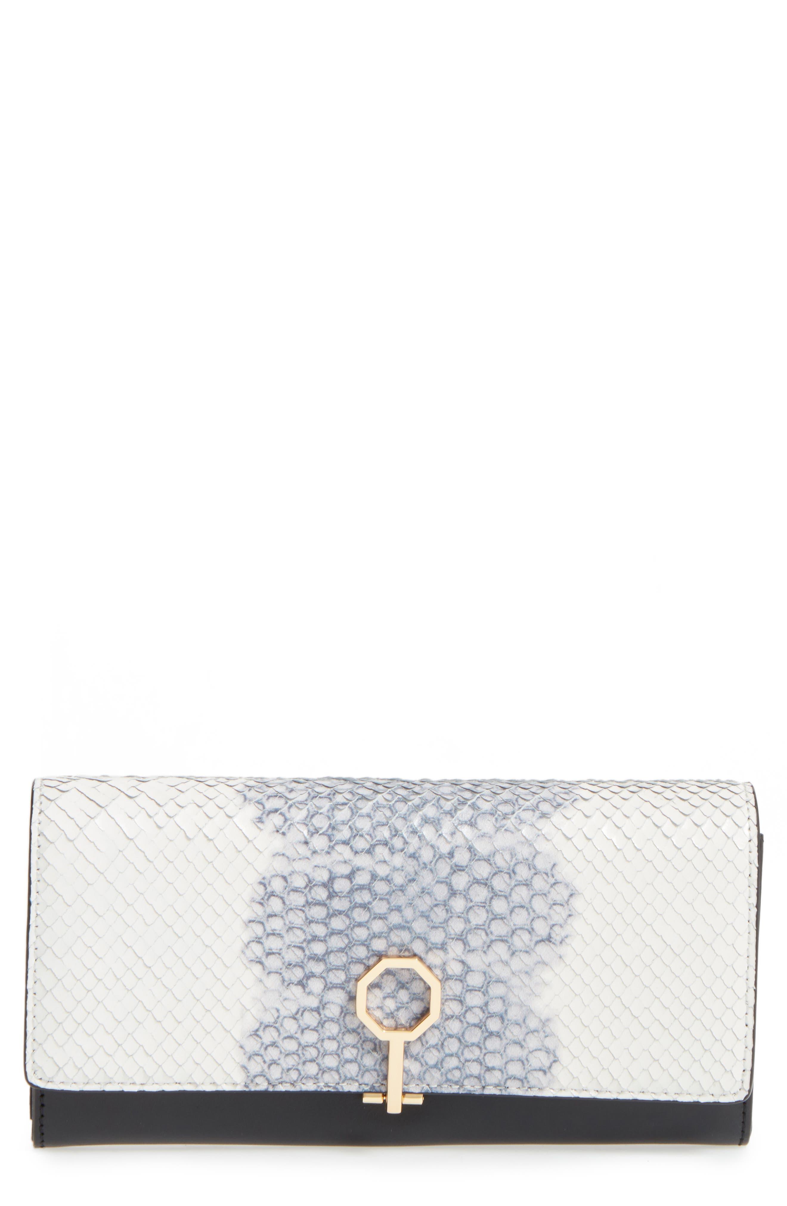 Main Image - Louise et Cie Yvette Embossed Leather Wallet