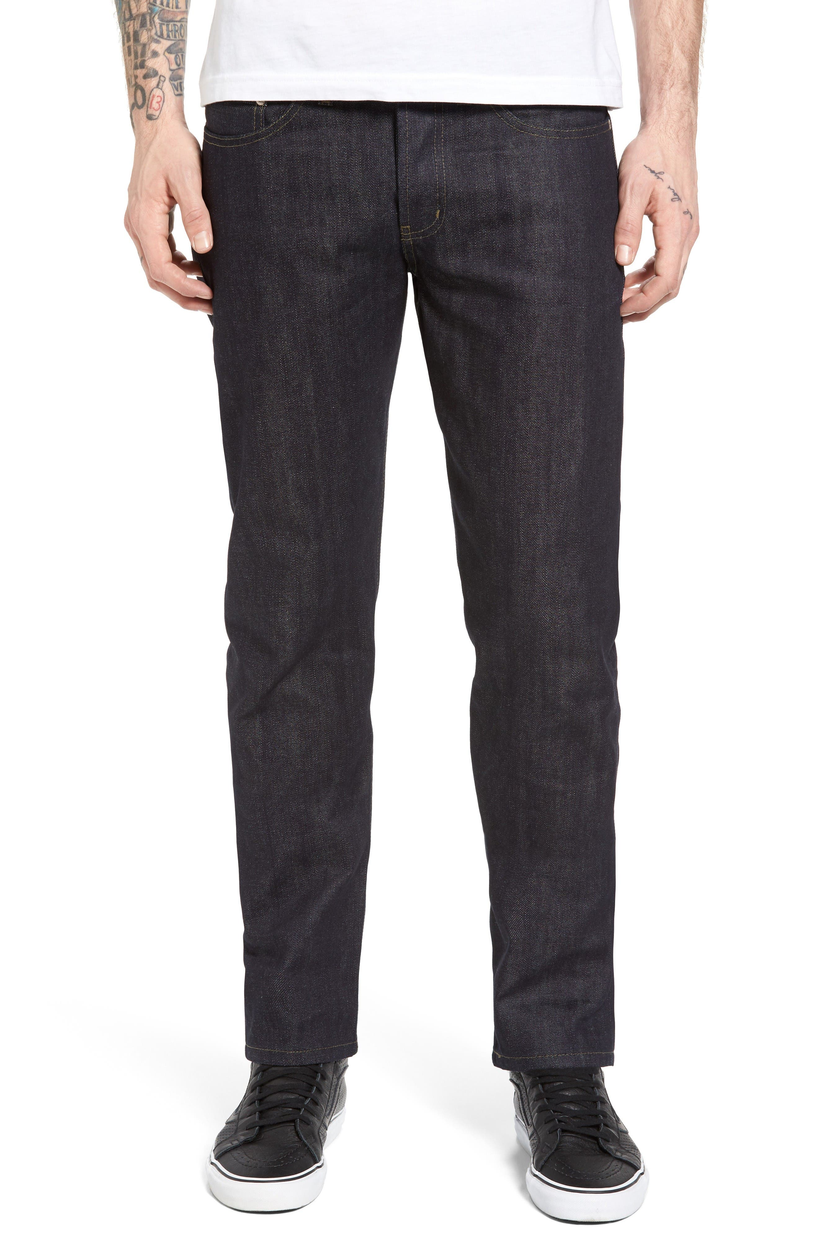 Naked & Famous Weird Guy Slim Fit Selvedge Jeans (Kaiju)