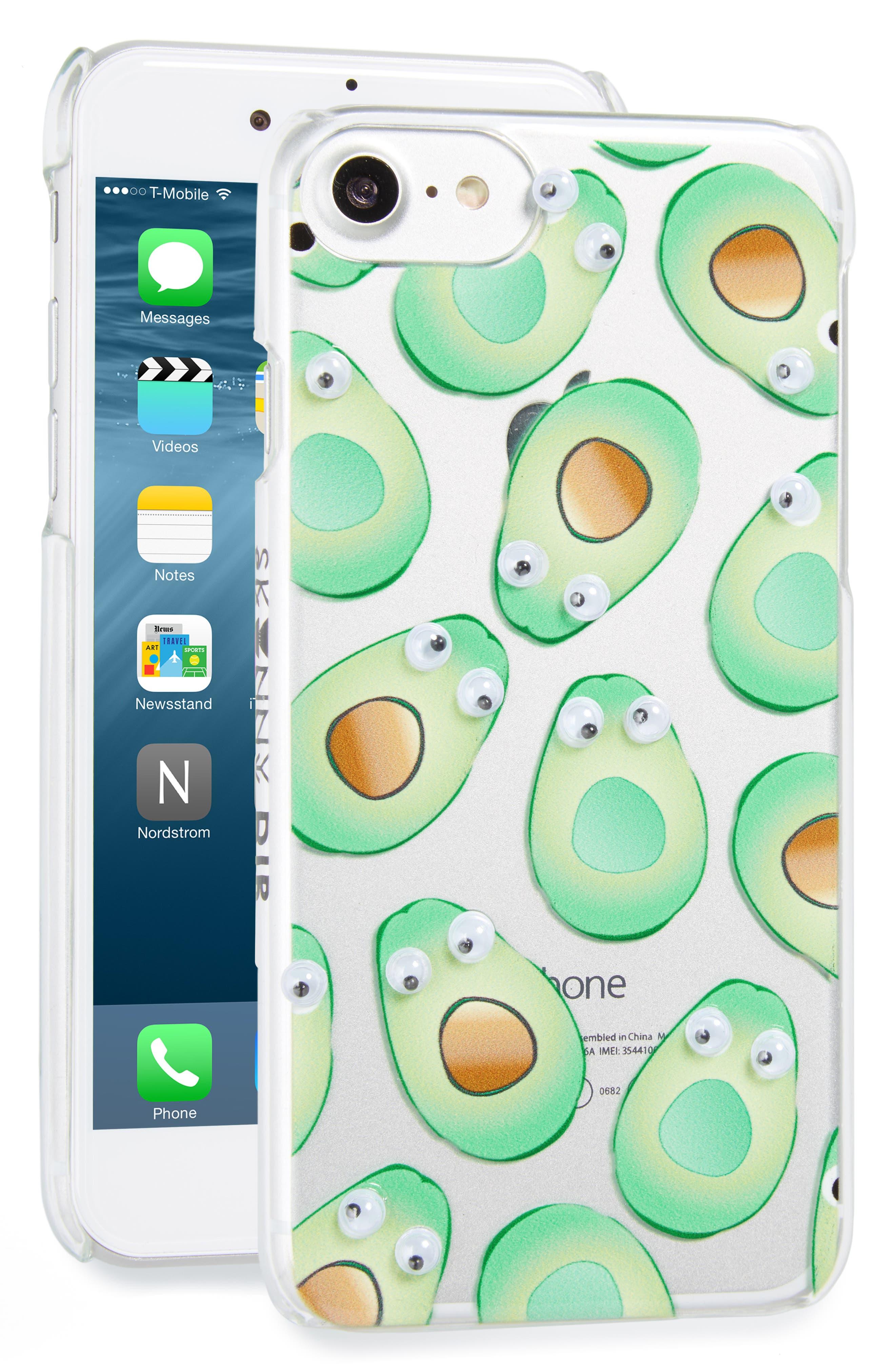 Main Image - Skinnydip Googly Avocado iPhone 7 Case