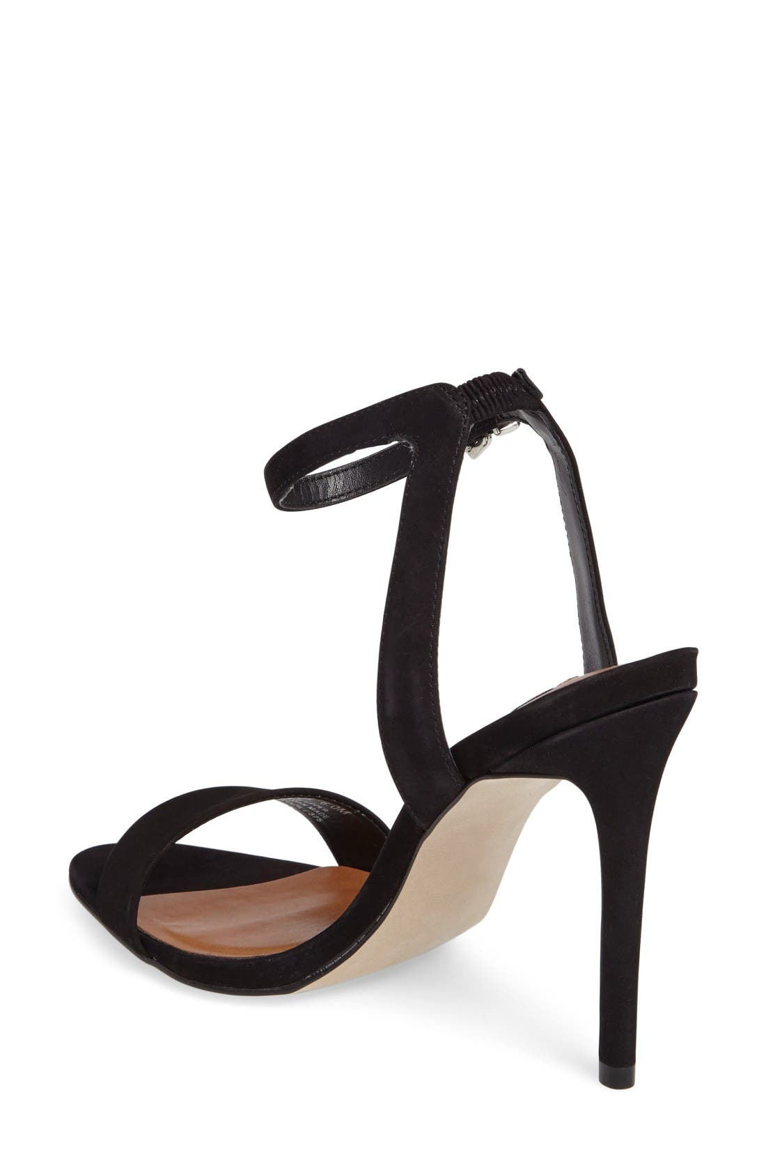 Landen Ankle Strap Sandal,                             Alternate thumbnail 2, color,                             Black Nubuck Leather
