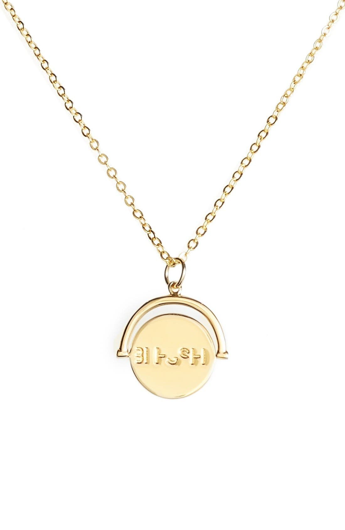 lulu dk Blessed Love Code Charm Necklace
