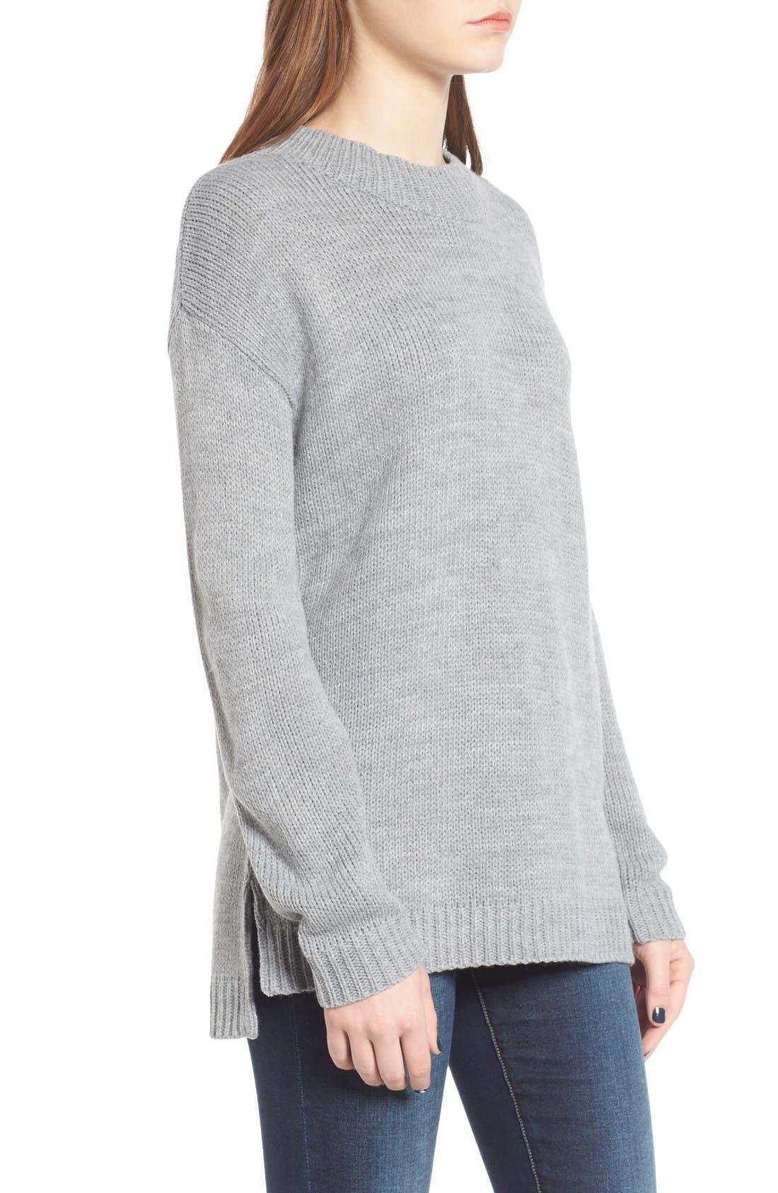 Alternate Image 3  - Cotton Emporium Mock Neck Tunic